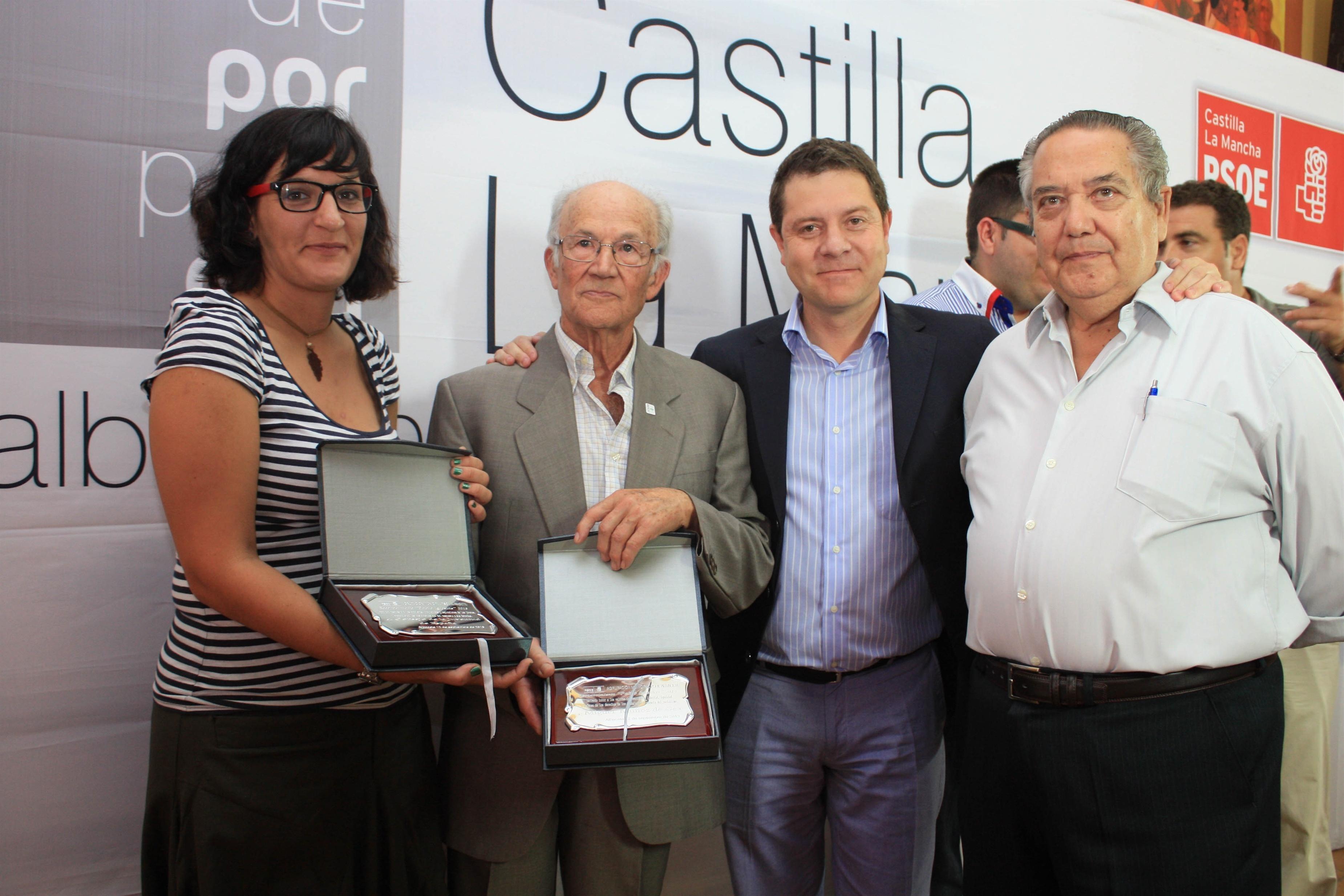 Page entrega en Albacete los premios »Pablo Iglesias» que reconocen la defensa de los valores socialistas