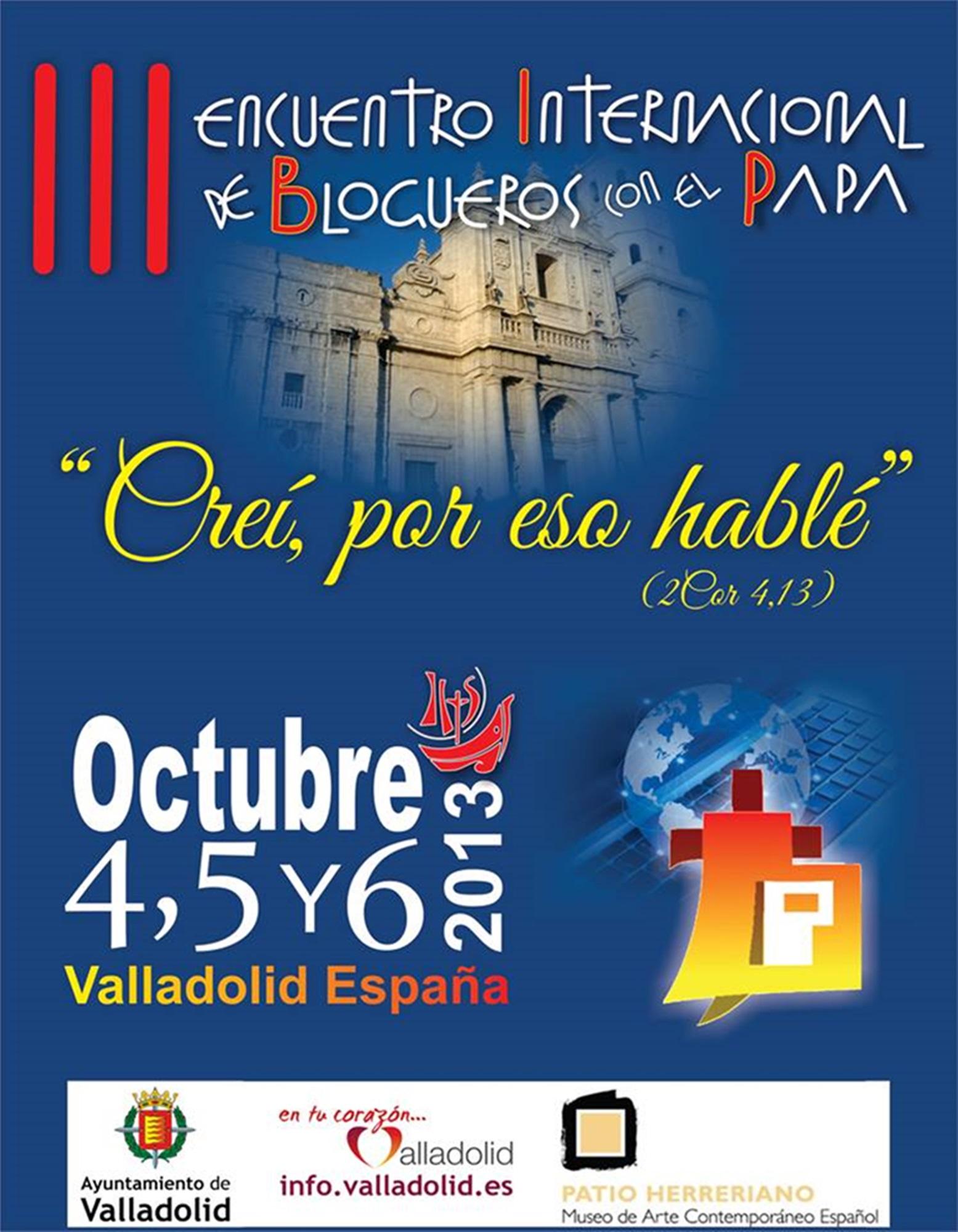 """III Encuentro Internacional de """"Blogueros con el Papa"""""""
