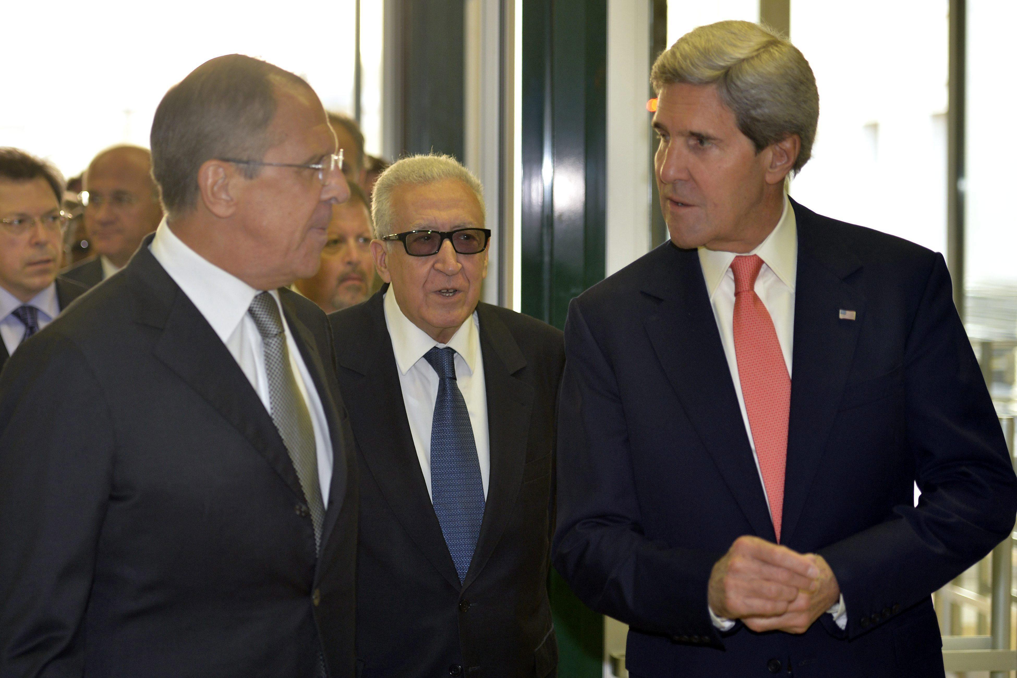 Kerry y Lavrov fijarán a fin de mes la fecha de conferencia de paz para Siria