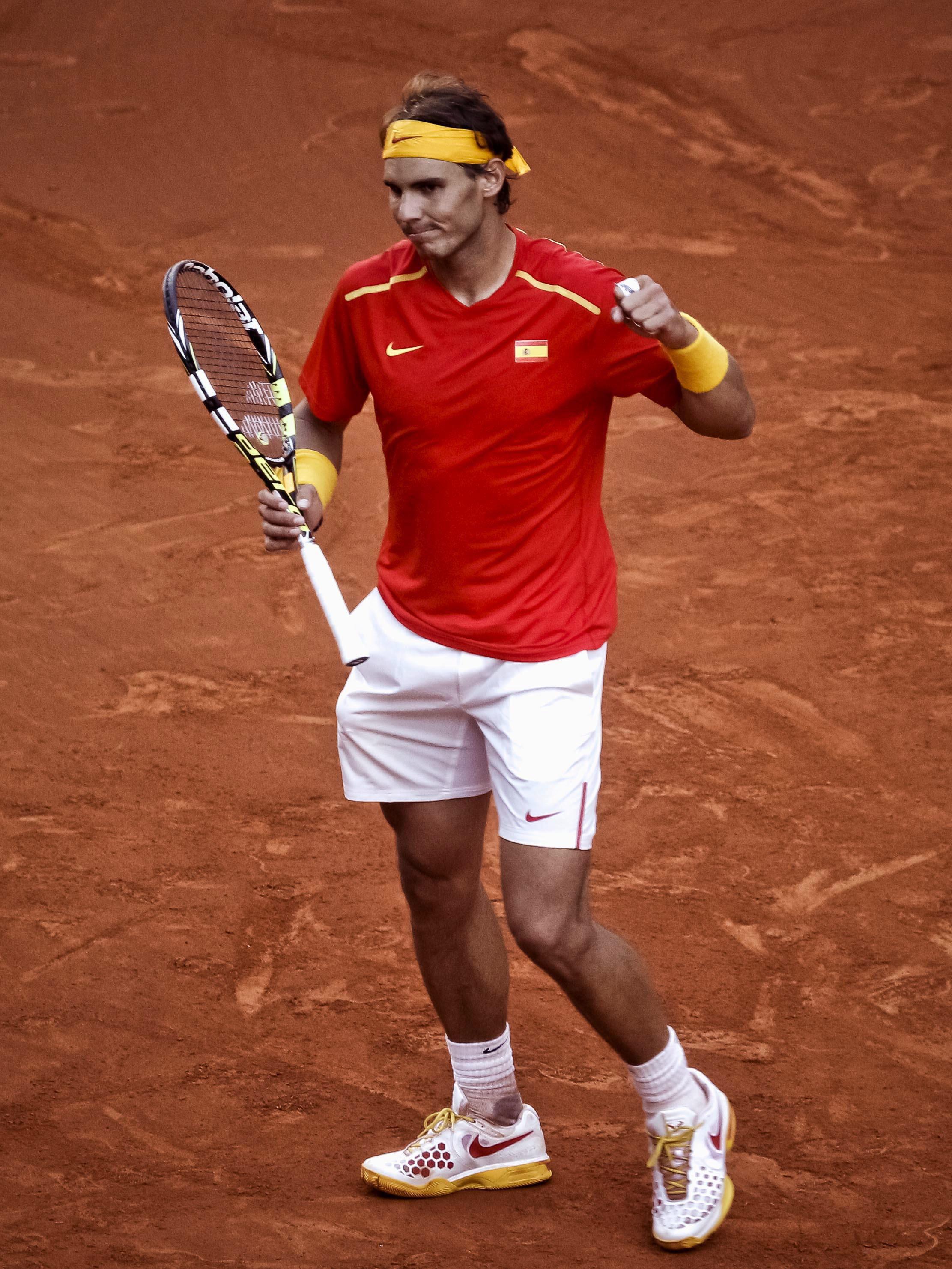 Rafael Nadal: «Objetivo cumplido y a ver si rematamos mañana»
