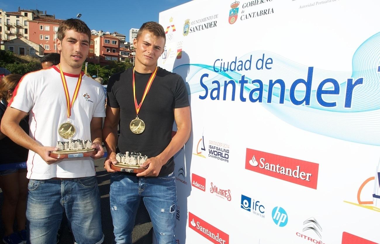 Diego Botín y Pablo Turrado (49er), único oro español en el 'Trofeo Ciudad de Santander'