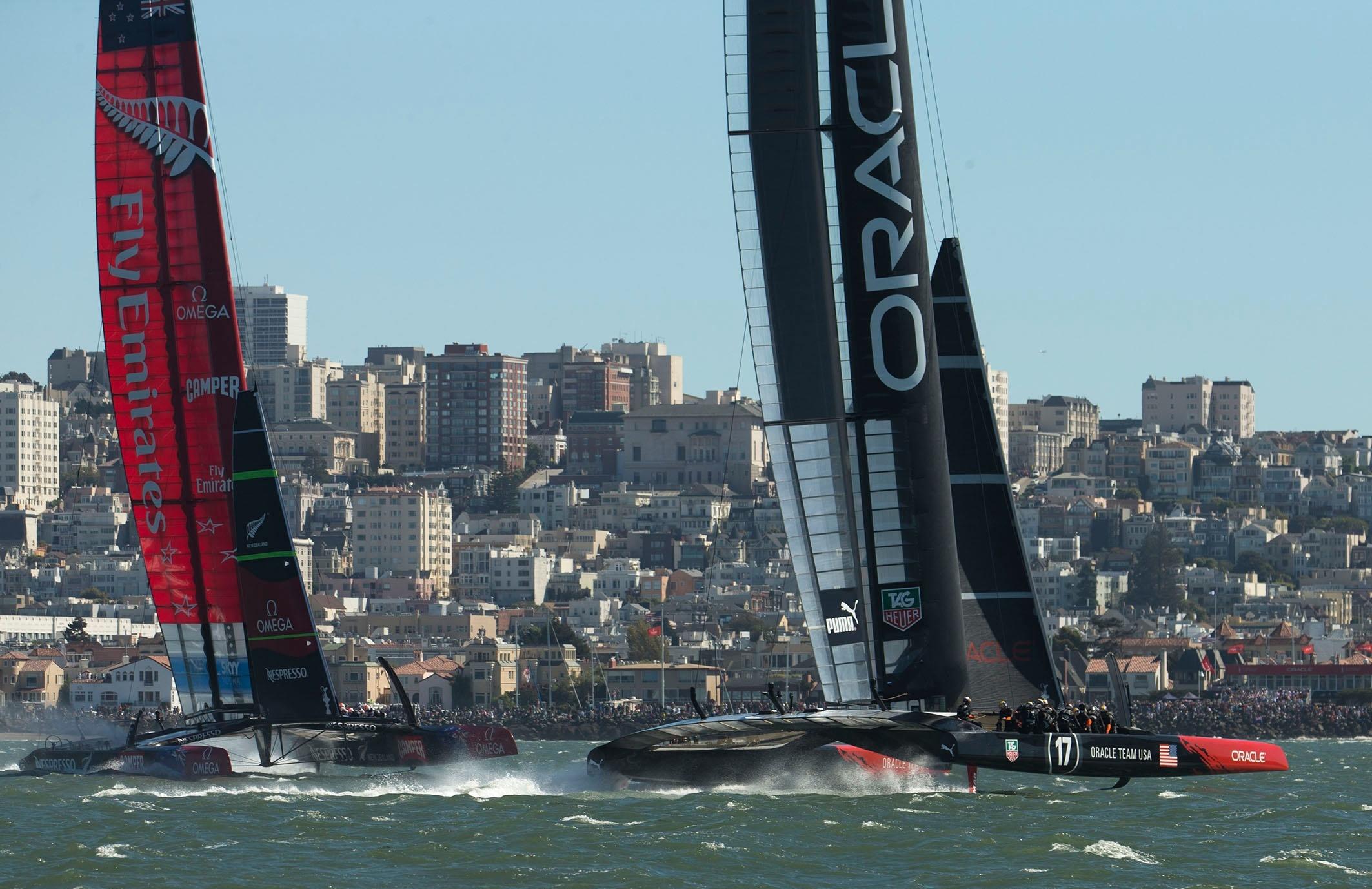 El »Team New Zealand» frena la reacción del »Oracle» y se queda a dos victorias de ganar la America»s Cup