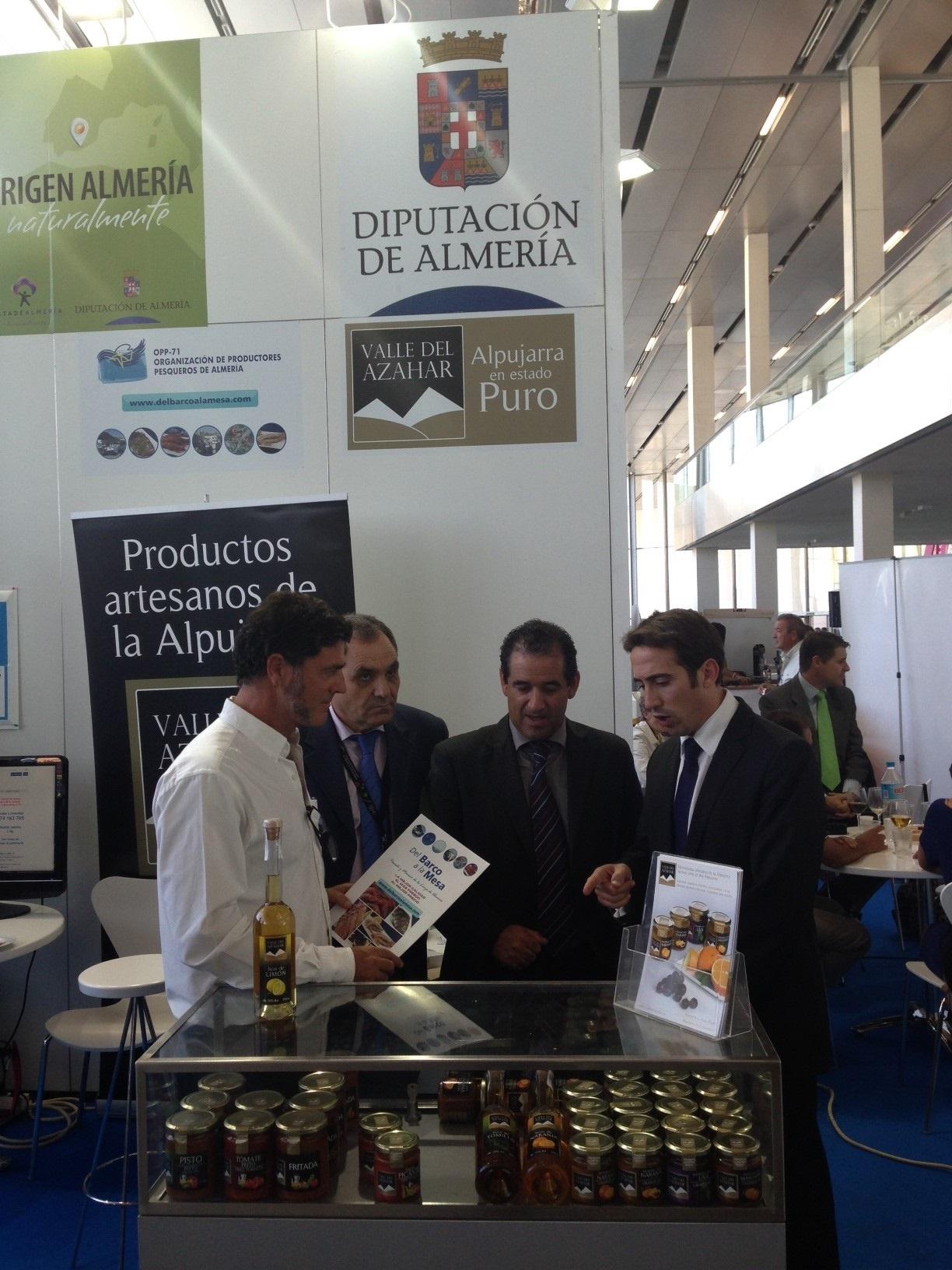 Un total de once empresas almeriense exponen sus productos en »Andalucía Sabor» con el apoyo de la Diputación