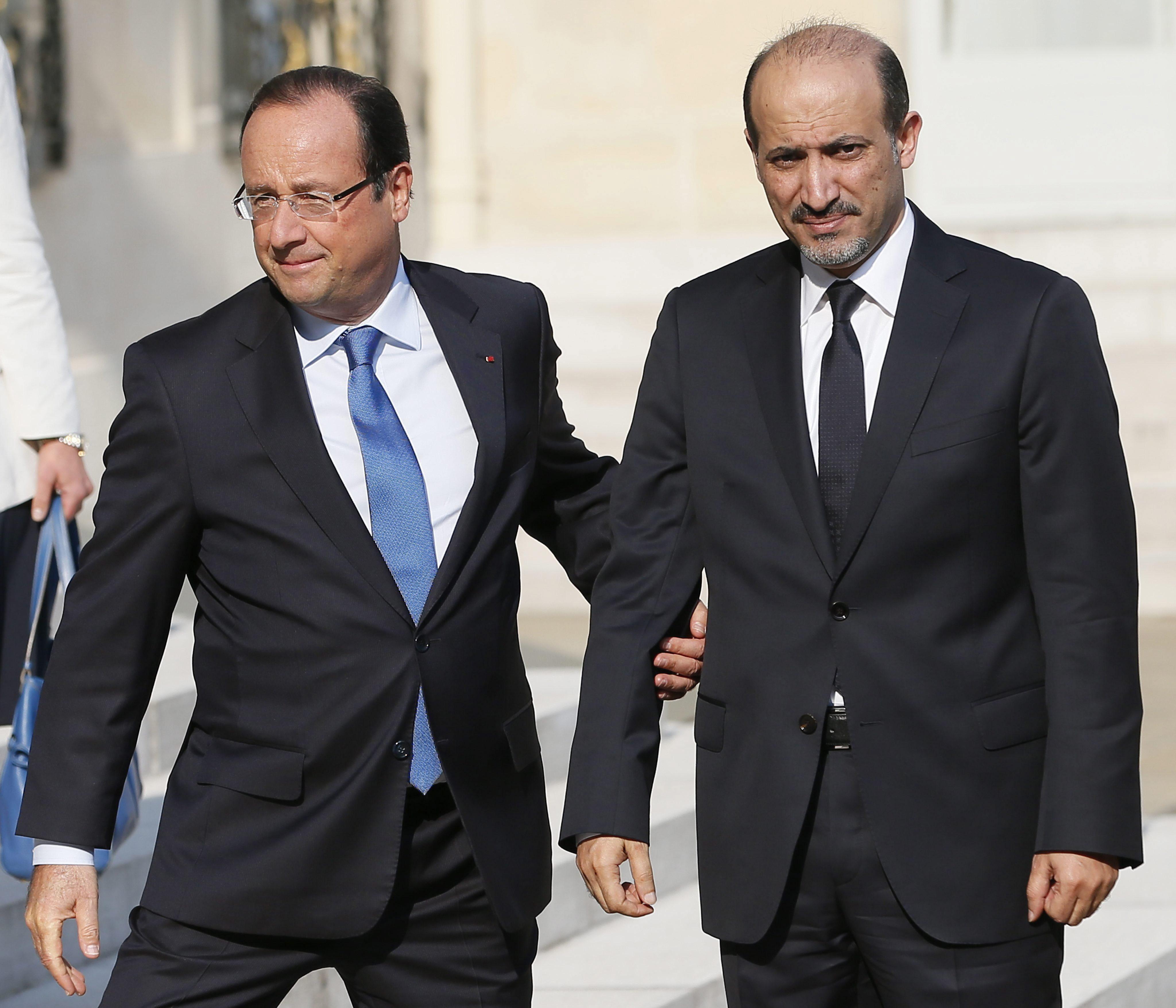 El líder de la oposición pide «una intervención firme» internacional en Siria