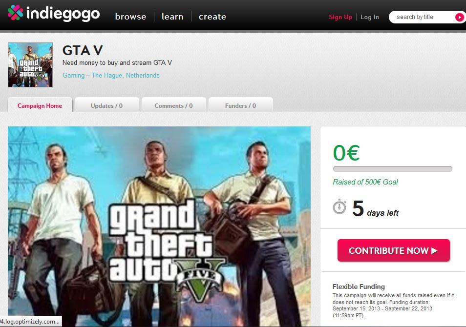 El videojuego GTA V obliga a »mendigar» en la red a cambio de gameplays