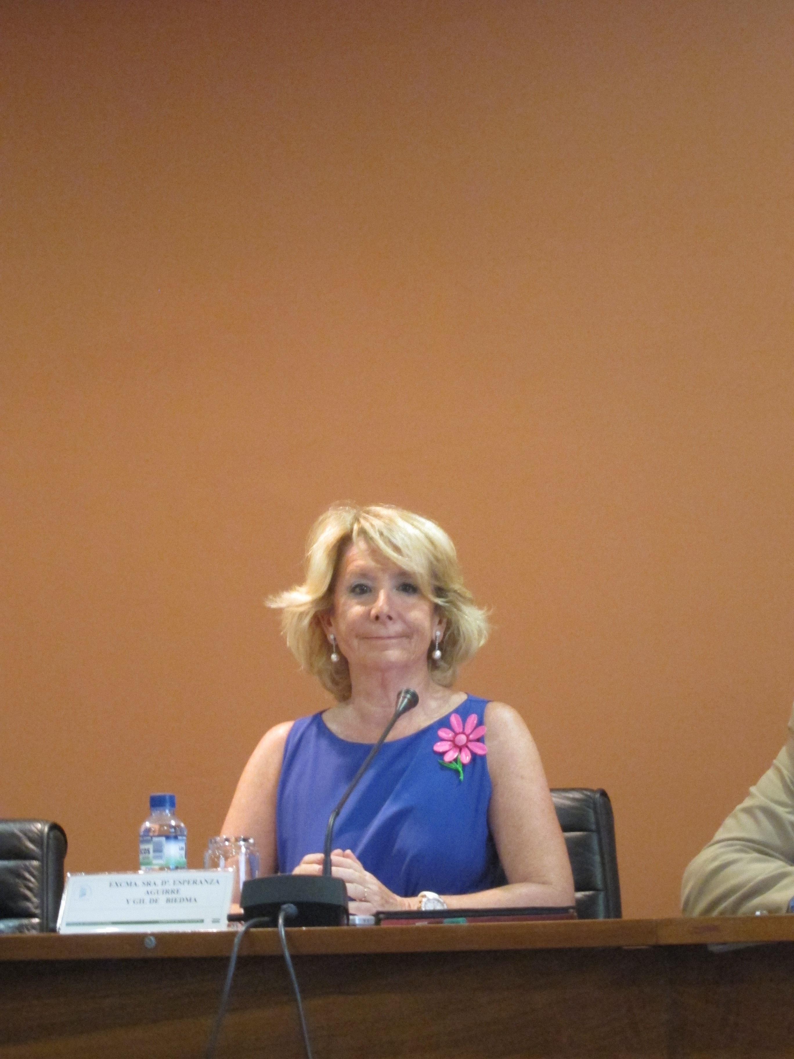 Aguirre hablará este jueves en Barcelona sobre las «consecuencias» de la independencia