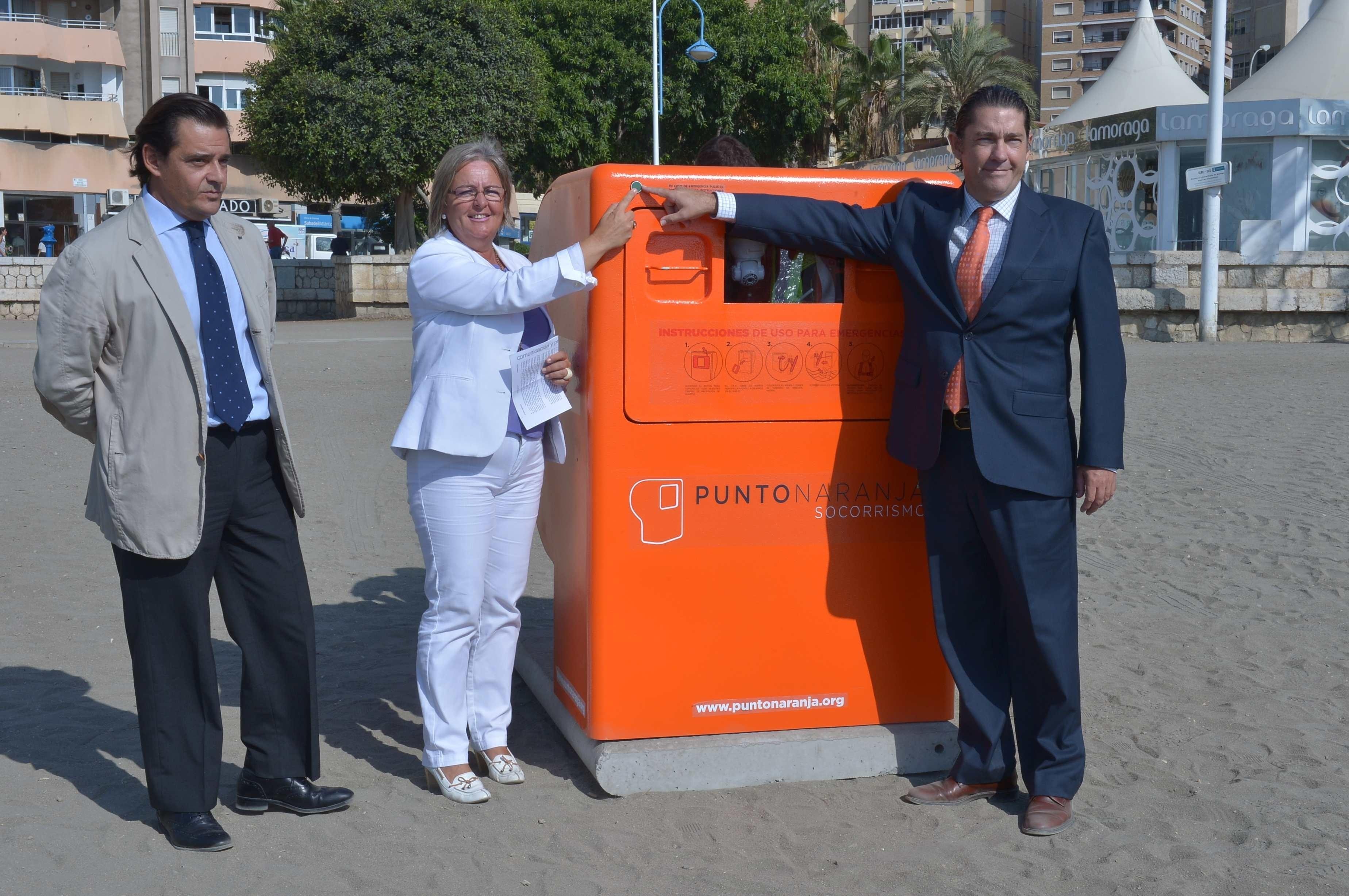 Las playa de La Malagueta albergará las pruebas del proyecto pionero »Punto Naranja de Socorrismo»