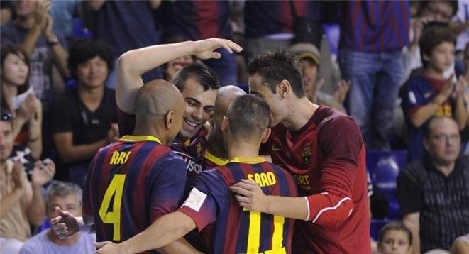 (Crónica) Sergio Lozano lidera el festival del Barça ante el Jaén