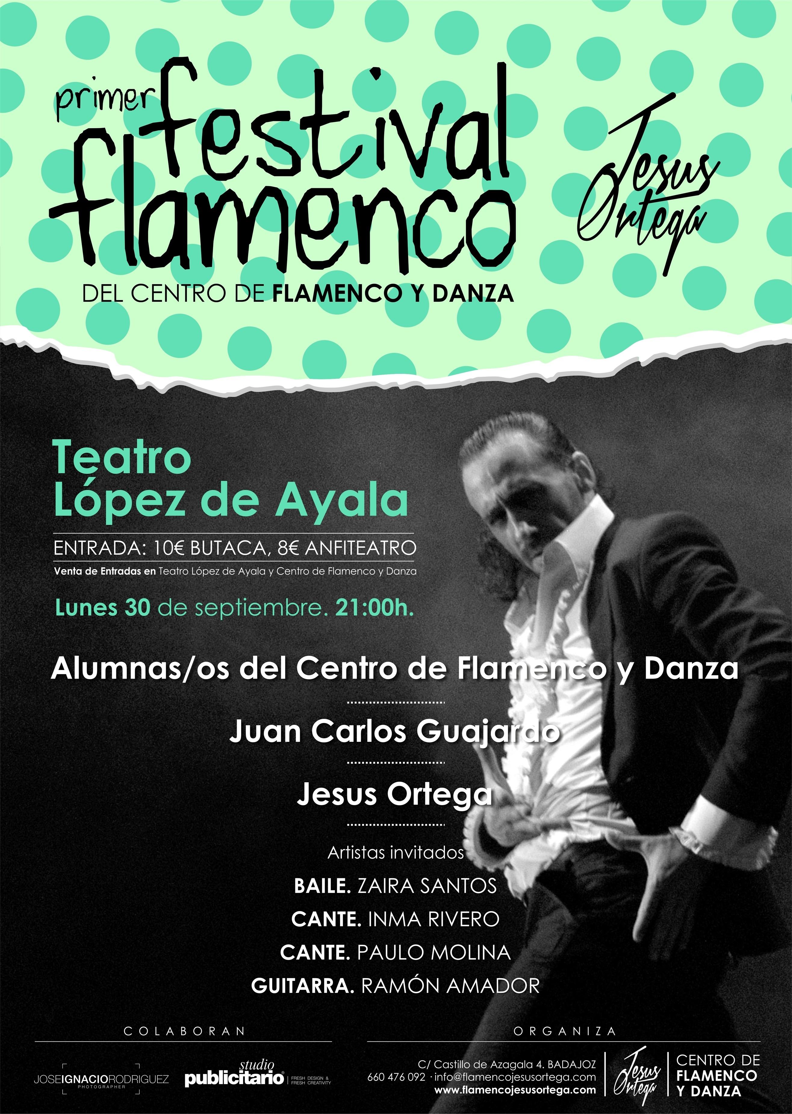 El I Festival del Centro Flamenco y Danza »Jesús Ortega» se celebra el 30 de septiembre en Badajoz