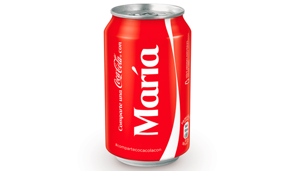 Coca-Cola personaliza sus envases con los nombres de los consumidores