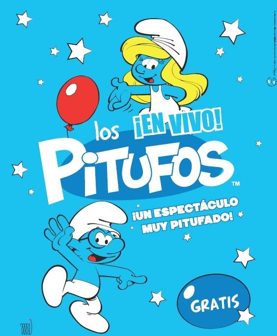 Los Pitufos llegan este viernes al Centro Comercial »El Faro» de Badajoz con un show en vivo