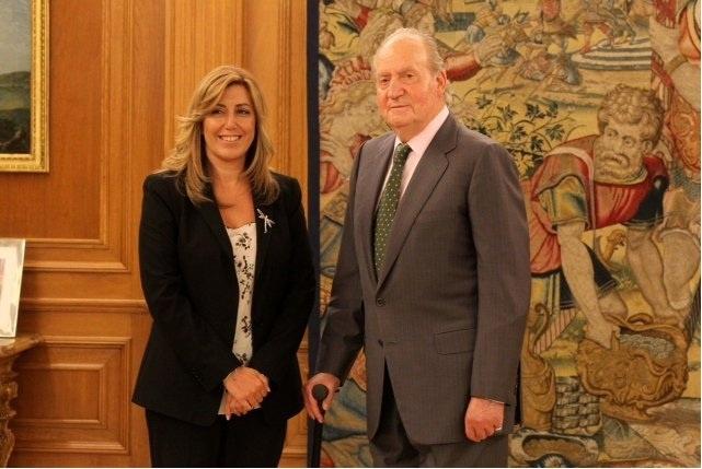Susana Díaz considera que el Rey debería haber escogido un hospital público