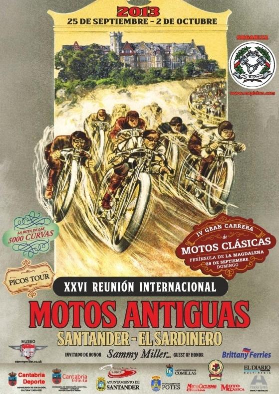 Arranca este jueves en Cantabria la XXVI Edición de la Reunión Internacional de Motos Clásicas