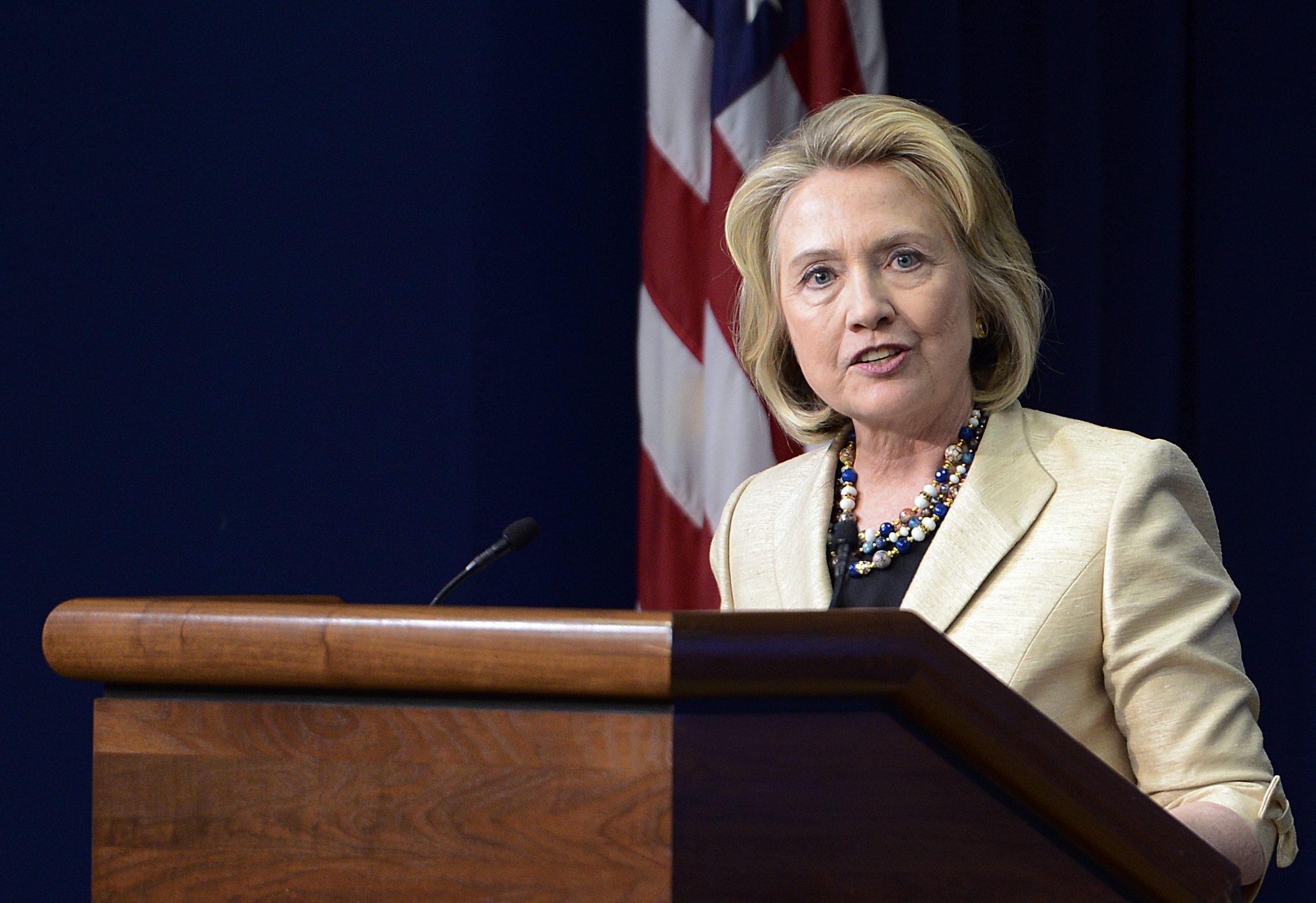 Hillary Clinton, cómoda ante el interrogante electoral de 2016