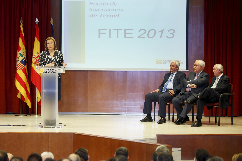 Rudi presenta en Teruel el FITE 2013, que contempla ayudas por valor de 60 millones de euros