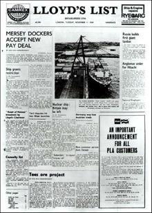 La histórica Lista del periódico Lloyd»s deja el papel y será sólo digital