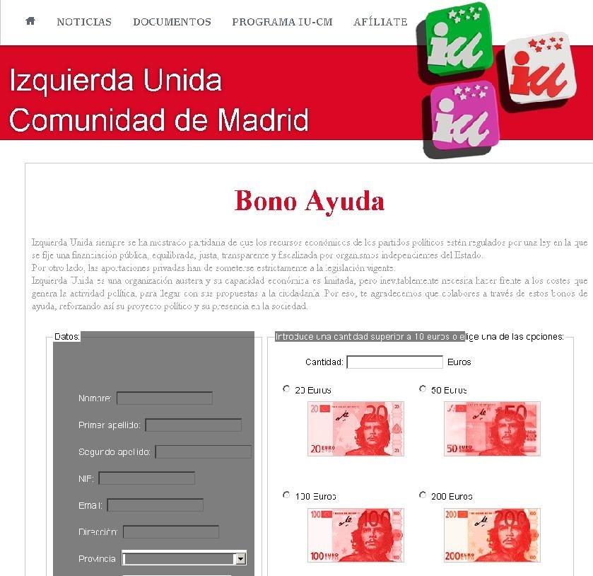 IUCM pone en marcha en su web una campaña de »bonos ayuda» para que la gente pueda aportar fondos a la organización
