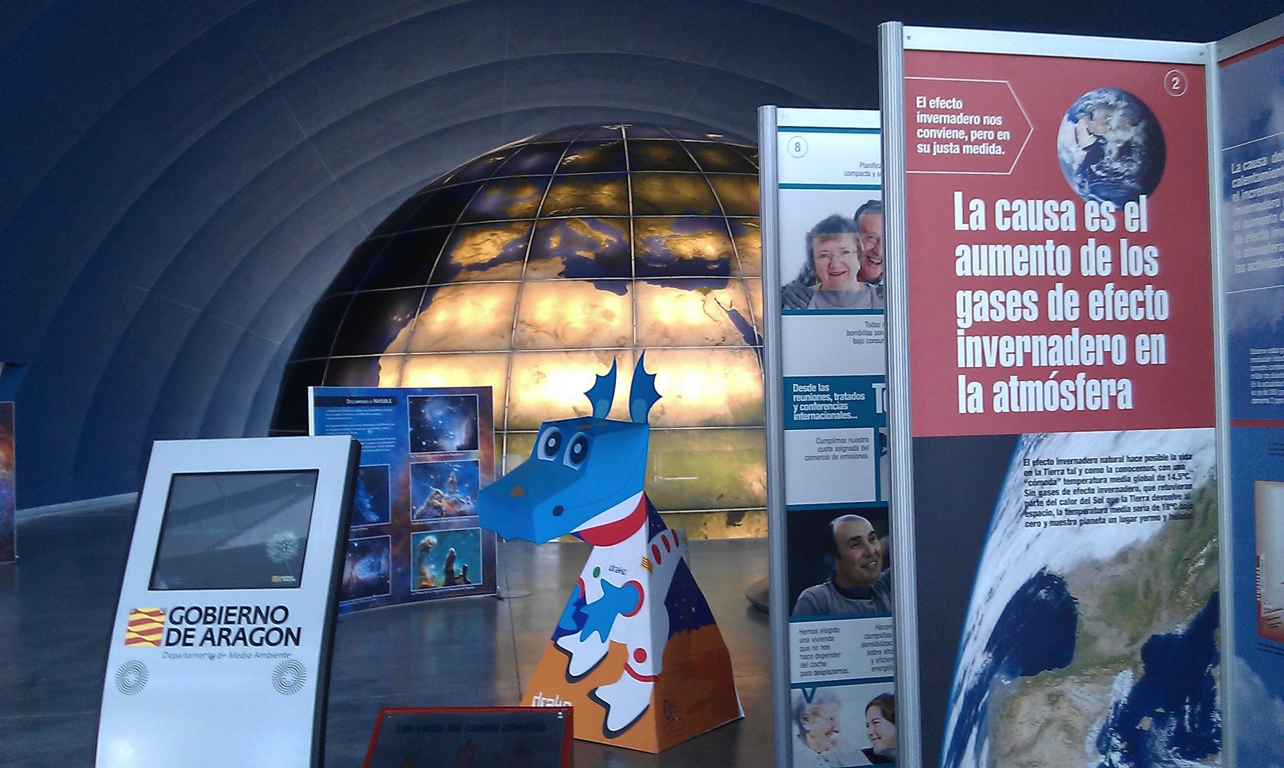 El Centro Astronómico Aragonés Espacio 0.42 acoge la exposición »Cambiemos nosotros para no cambiar el clima»