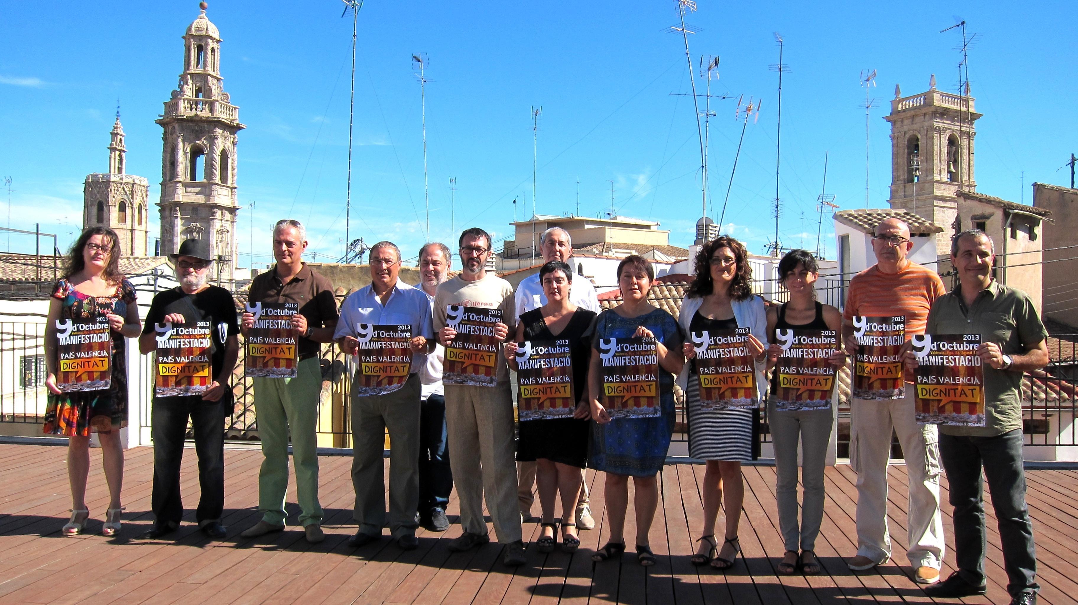 La manifestación del 9 d»Octubre reivindicará la «dignidad» del »País Valencià»
