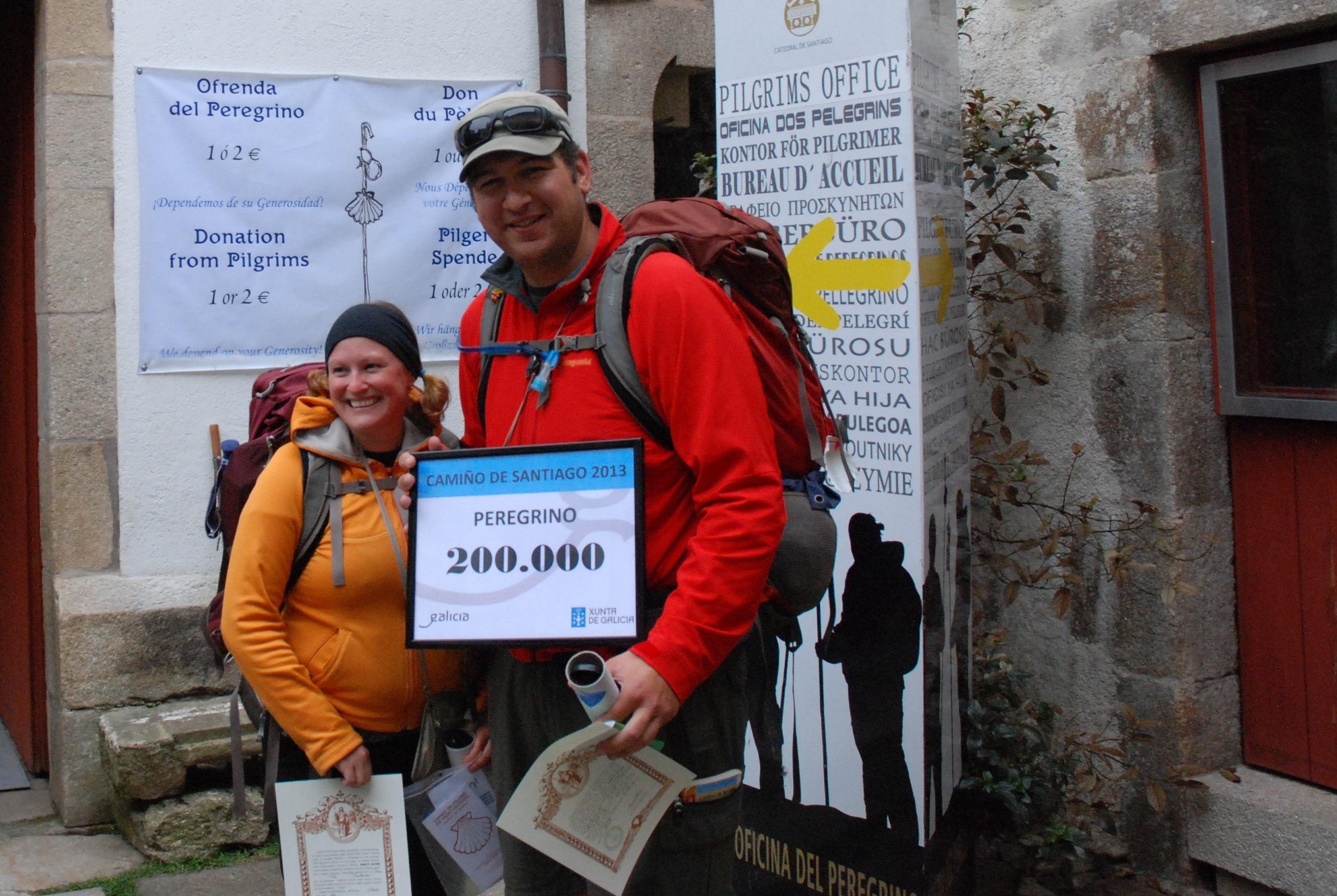 La cifra de peregrinos que realizaron el Camino de Santiago en 2013 supera las 200.000 personas