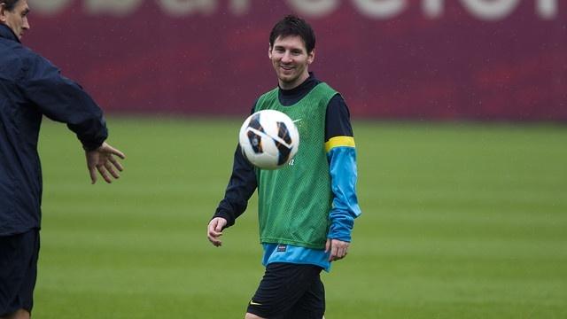 Messi vuelve a entrenarse con normalidad