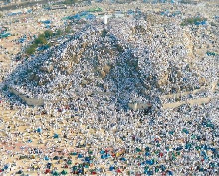 La Meca ha sido hoy paso obligado para los que quieren cumplir el precepto