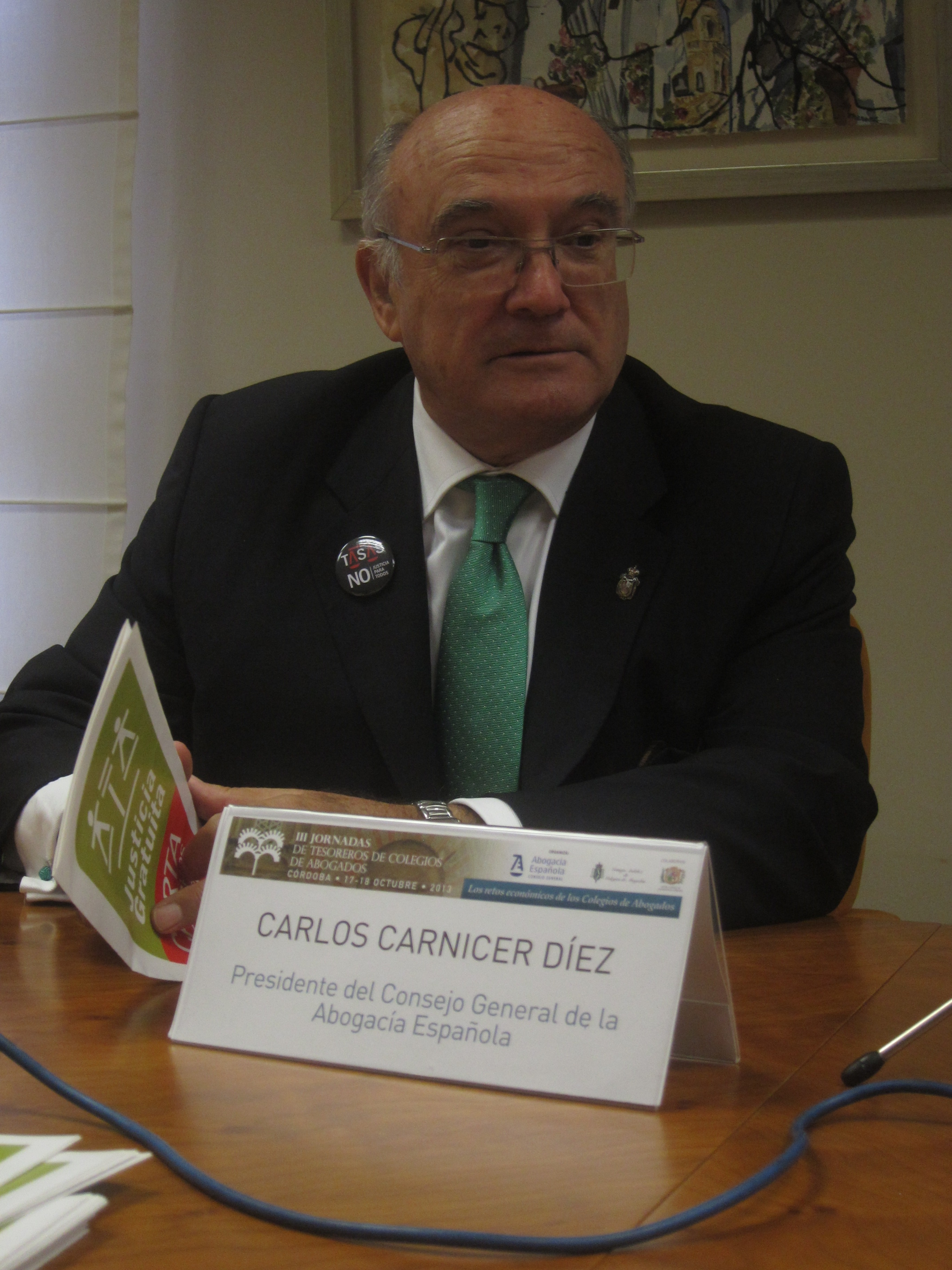 Carnicer apuesta por «paralizar» la Ley de Colegios Profesionales porque porque se hace «para presumir en Bruselas»