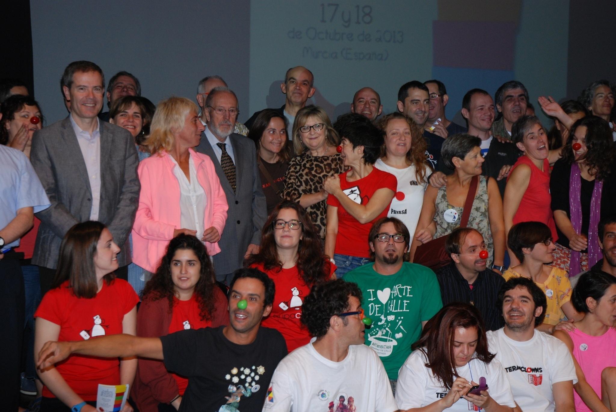 Las II Jornadas Nacionales de Payasos de Hospital reúnen en Murcia a 15 asociaciones de toda España y una de Portugal