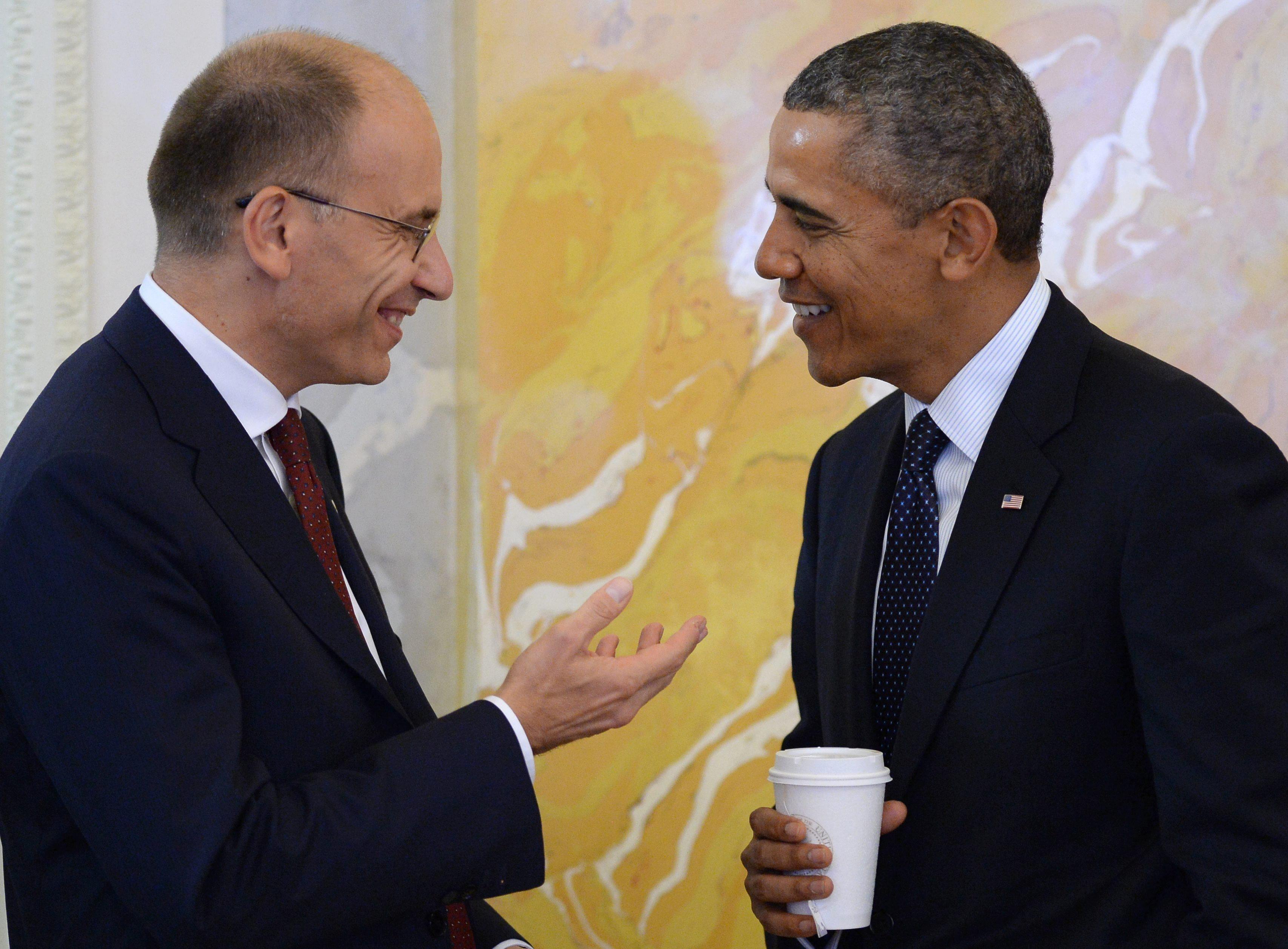 Obama recibe al italiano Letta para tratar la cooperación en la OTAN y el comercio