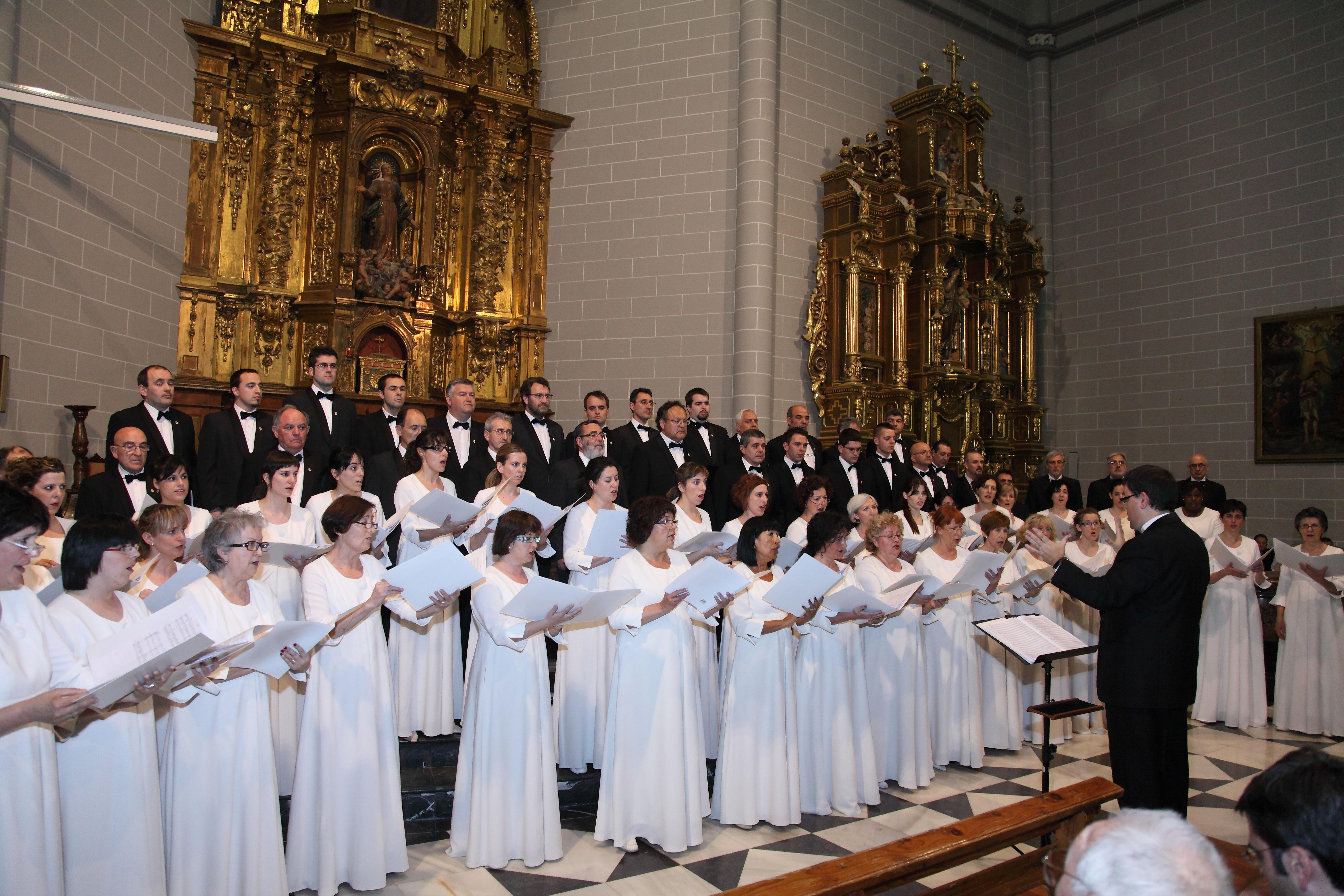 El Orfeón Pamplonés interpretará el sábado en Artajona un concierto del ciclo »Música en Navarra»