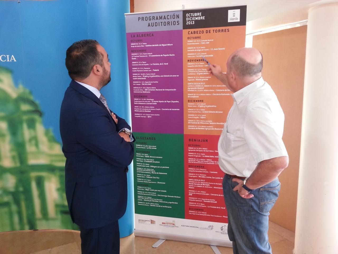 Arranca este fin de semana la temporada de los auditorios municipales de Murcia con 46 espectáculos