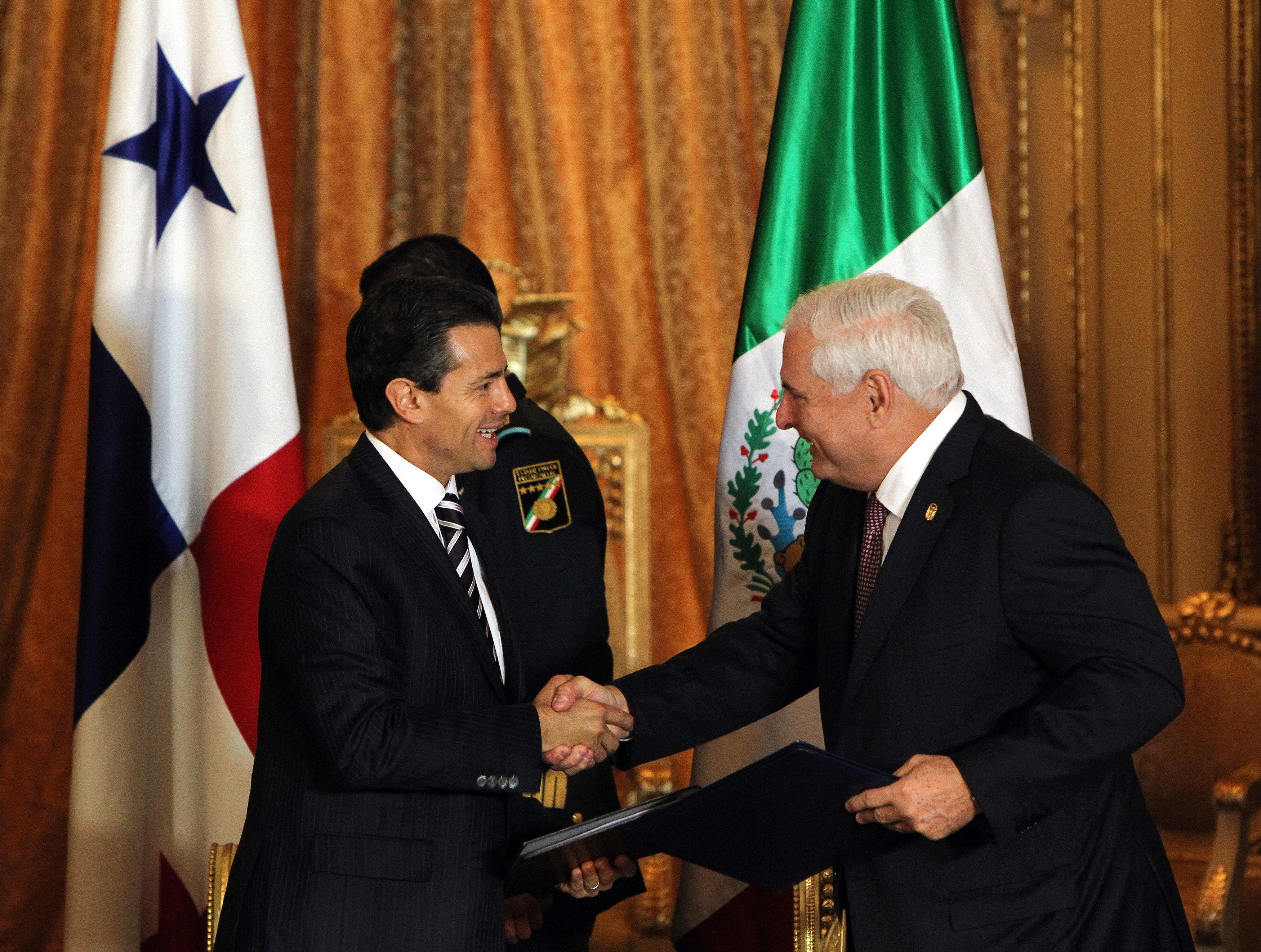 Martinelli y Peña Nieto acuerdan acelerar la firma del Tratado de Libre Comercio