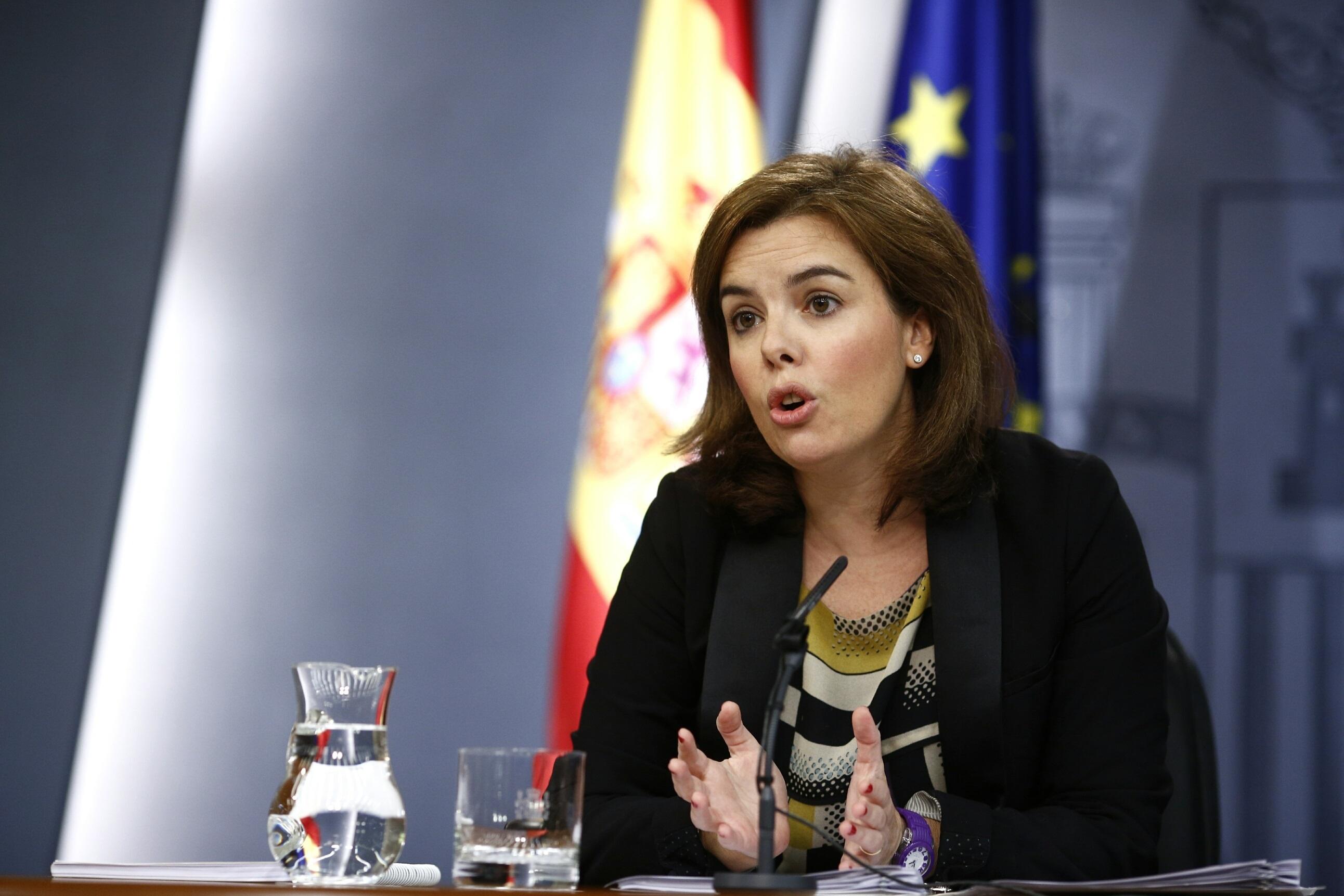 Sáenz de Santamaría no valora las declaraciones de Bárcenas y dice que «no son nuevas»