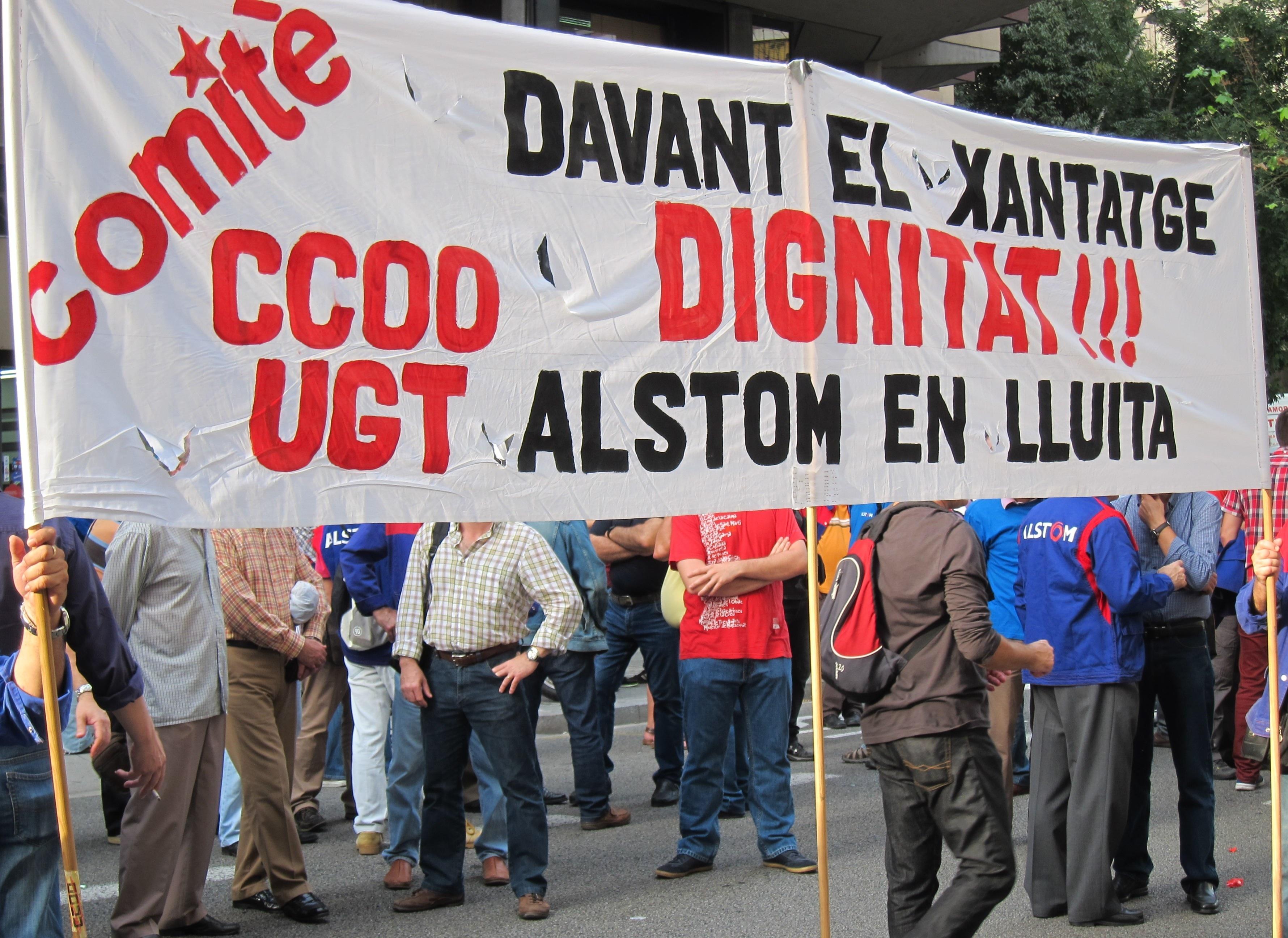 Trabajadores de Alstom votarán en referéndum la última propuesta de la dirección