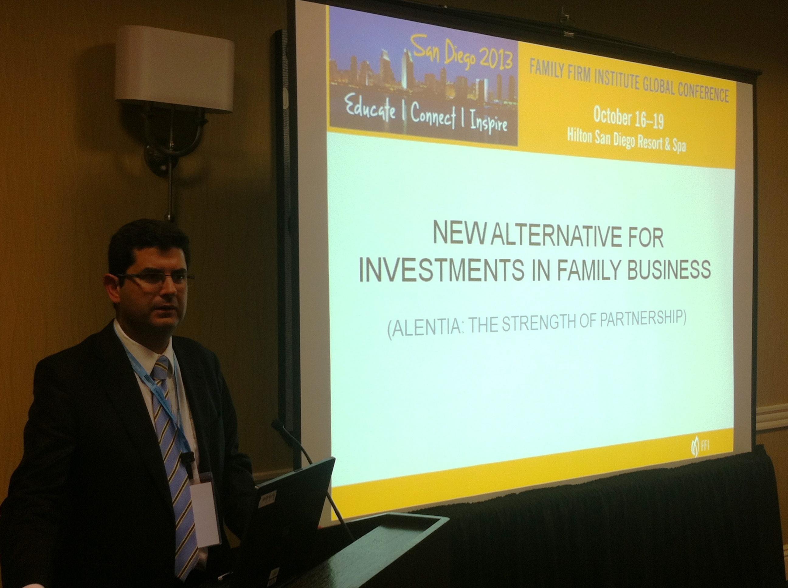 Alentia se presenta en San Diego (Estados Unidos) ante 400 profesionales del ámbito empresarial y financiero