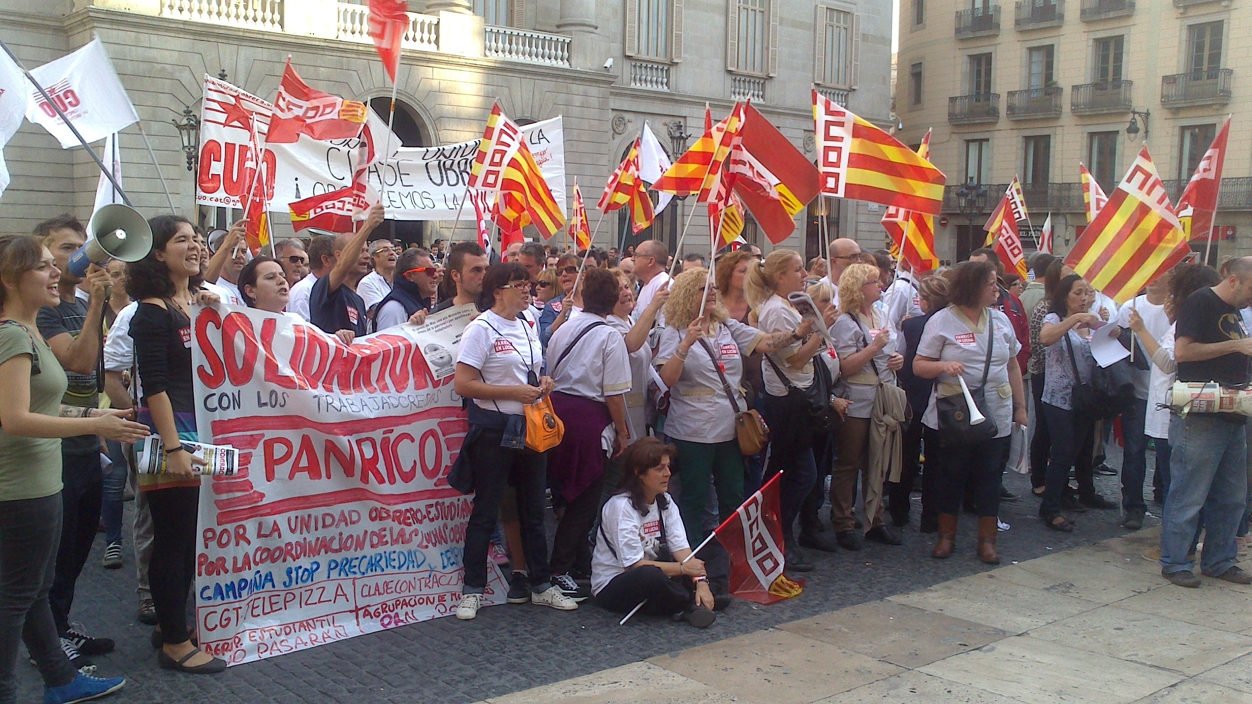 El Ayuntamiento de Sabadell se solidariza con las plantillas de Panrico y Alstom