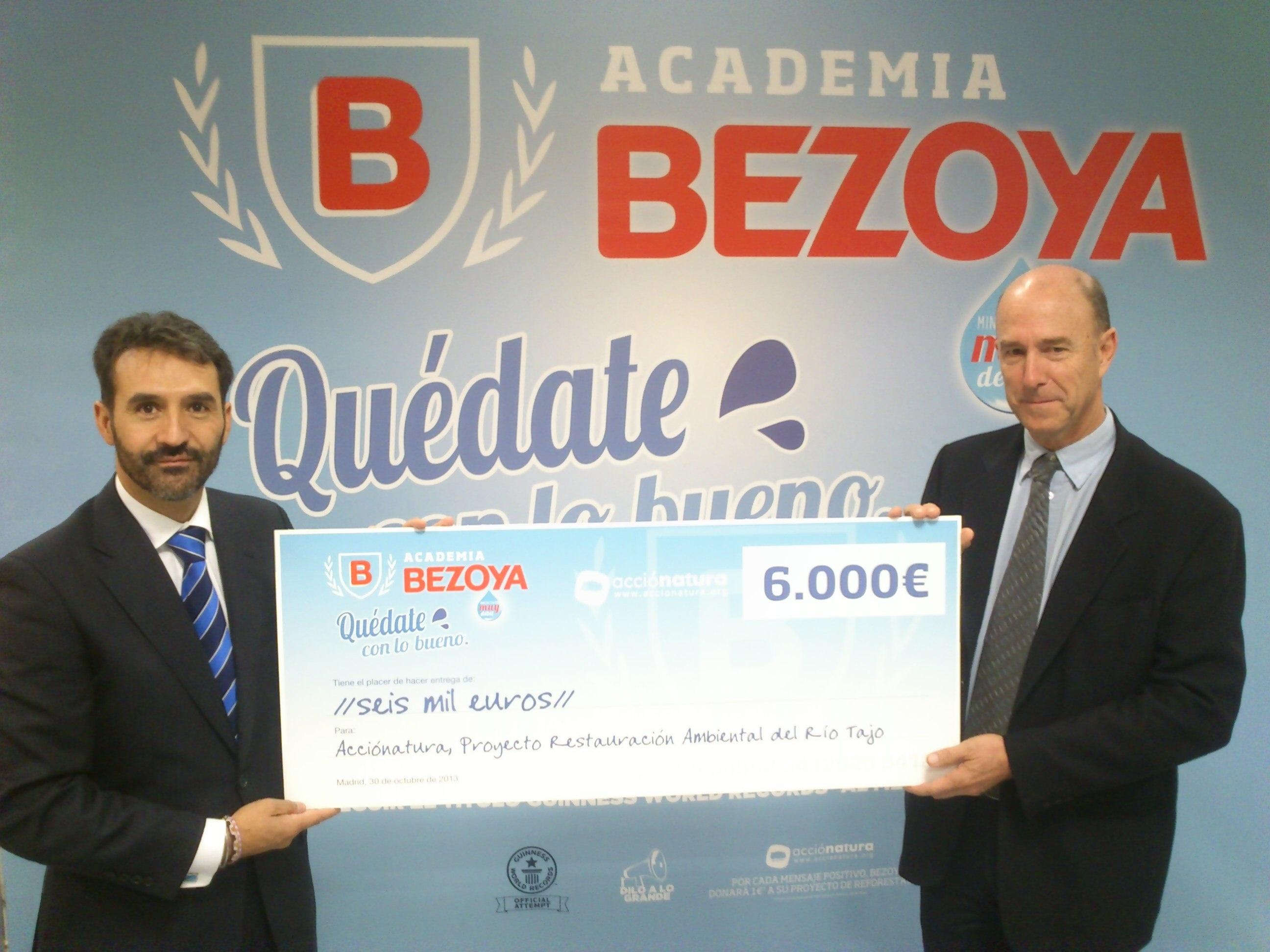 Bezoya dona 6.000 euros a la ONG Acciónatura destinados a la reforestación del Río Tajo a su paso por Aranjuez