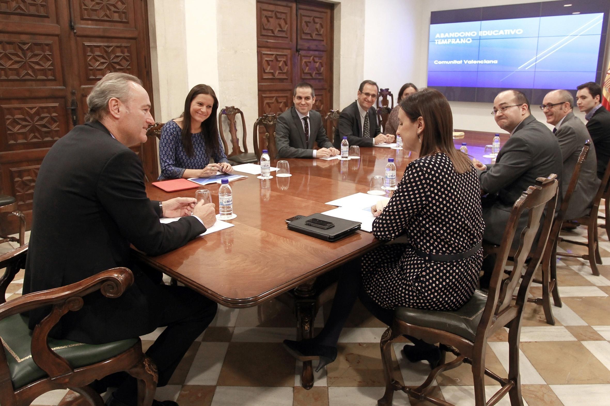 Fabra anuncia que la Comunitat Valenciana ha reducido la tasa de abandono escolar en 4,5 puntos