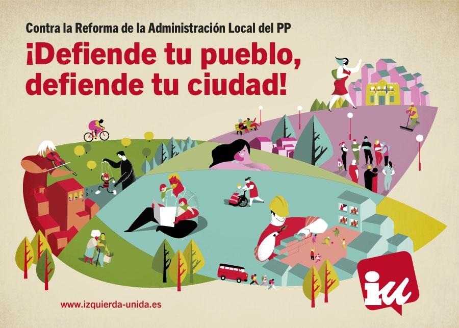 IU lanza una campaña con movilizaciones «a medio plazo» para protestar contra la reforma de la administración local