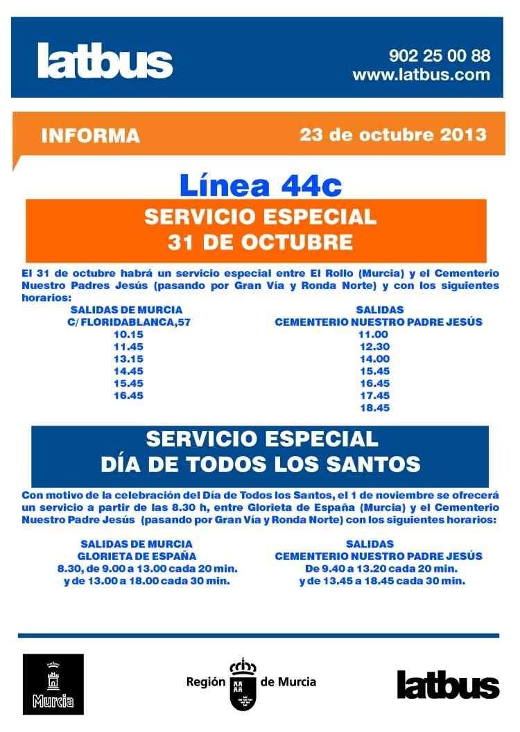 Latbus dispone de un servicio especial este viernes con motivo del Día de Todos los Santos