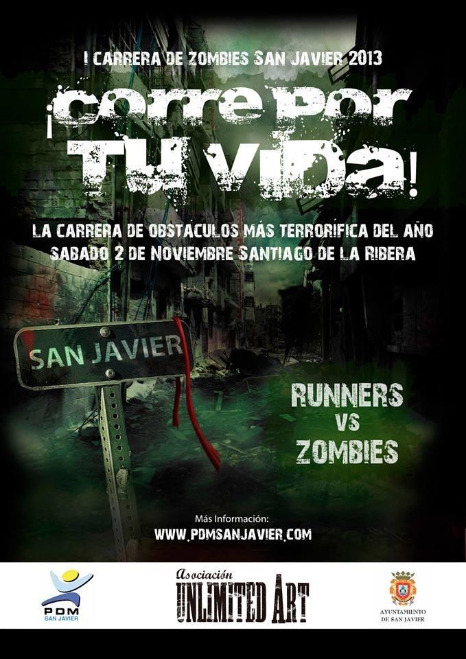 La Zombies Walk reúne a corredores y zombies en una original y «terrorífica» carrera de obstáculos