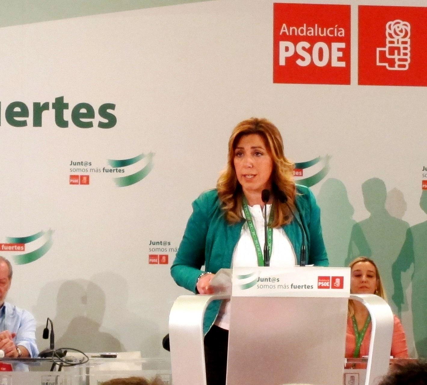 La presidenta de Andalucía muestra su «solidaridad y apoyo» a socialistas asturianos