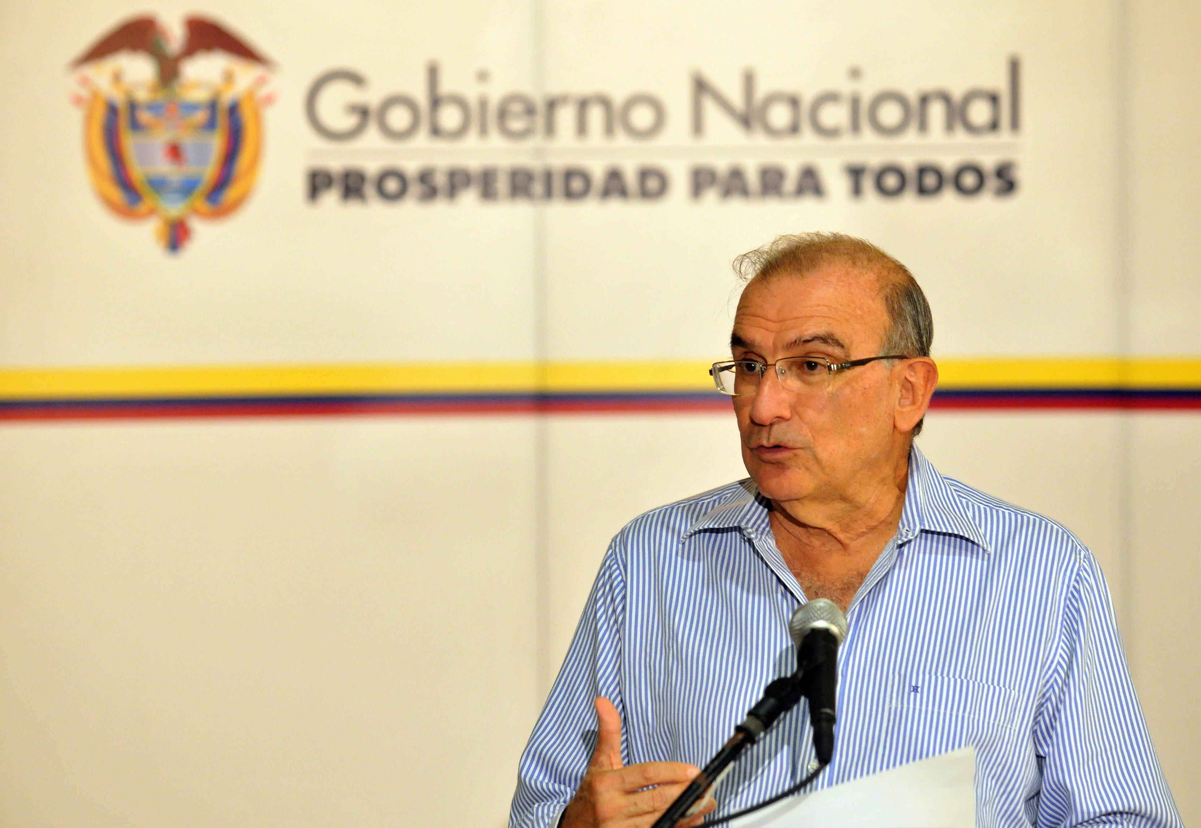 El jefe negociador colombiano espera que las FARC renuncien a la violencia