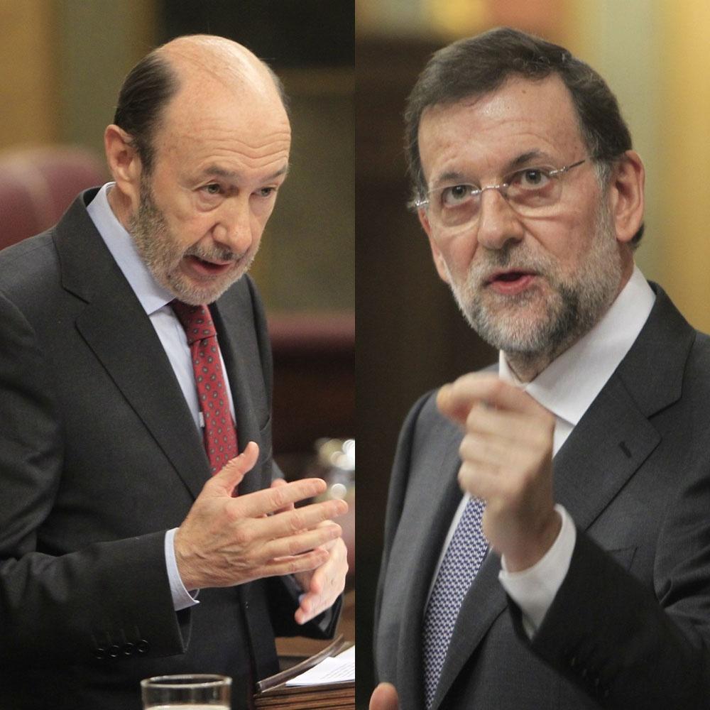 Rajoy y Rubalcaba se echan en cara las cifras del paro, dos años después de la victoria del PP