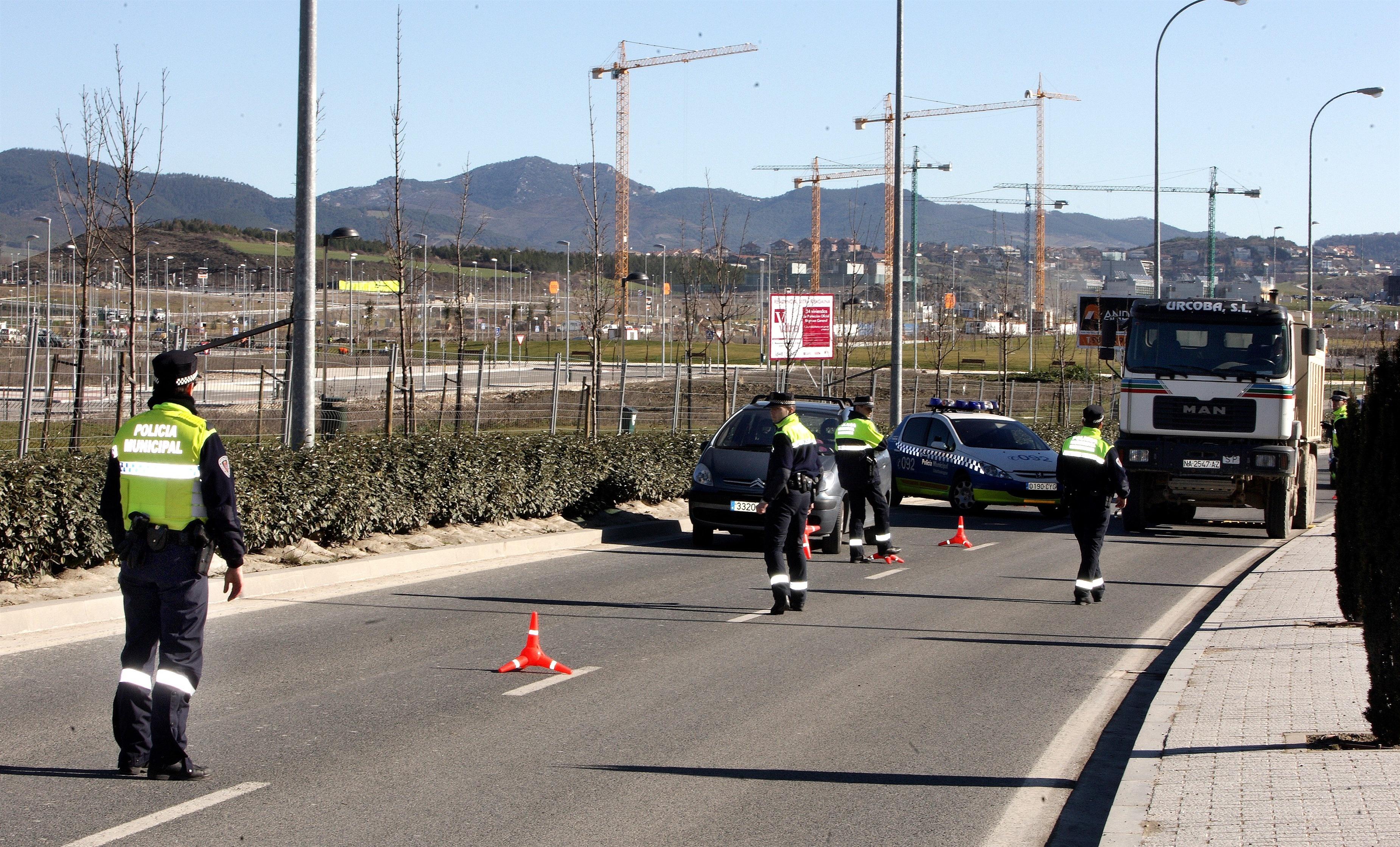 Detenidas 337 personas en Pamplona hasta octubre por delitos contra la seguridad vial, un 7% más que en 2012