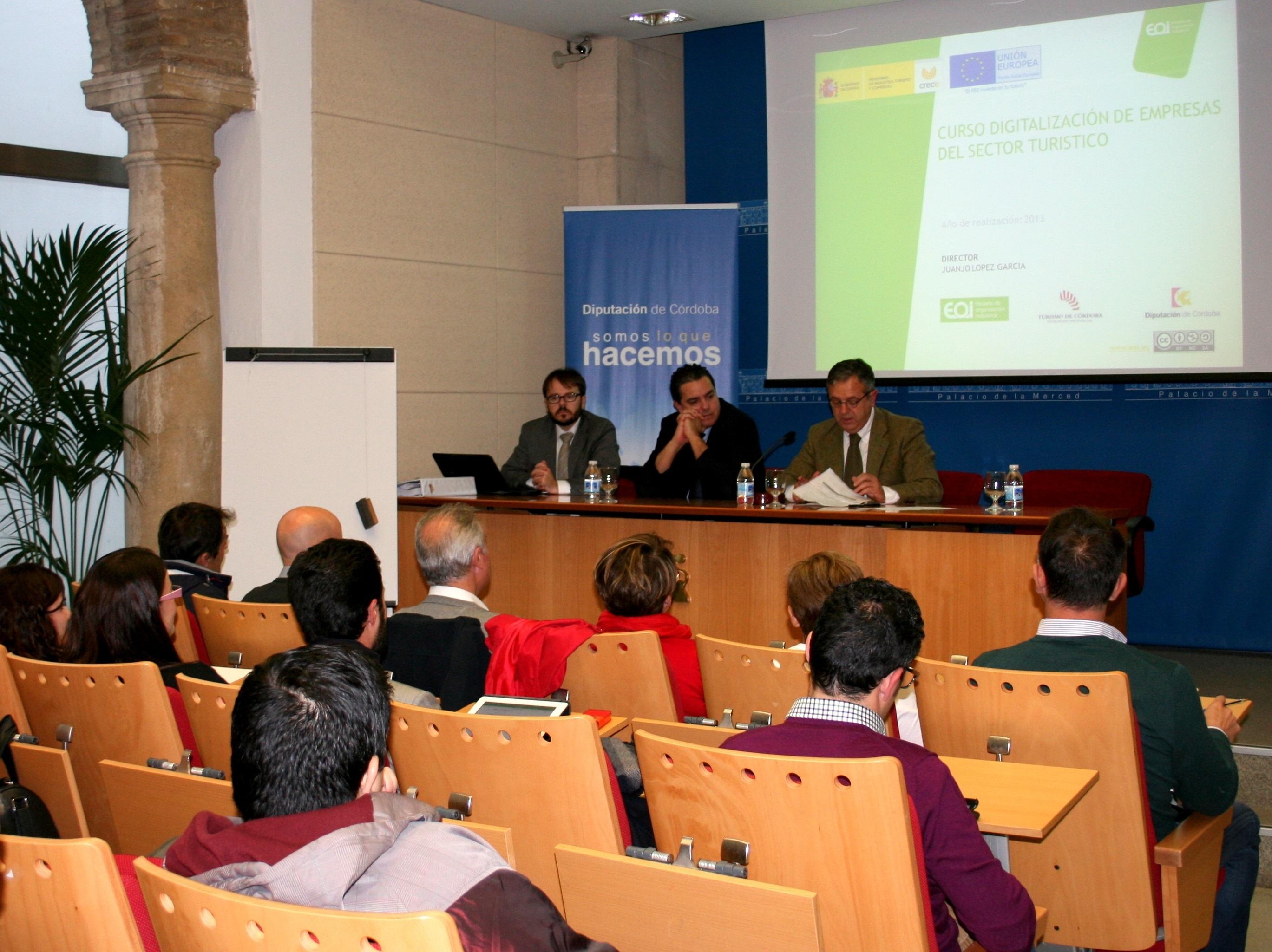 La Diputación y la EOI impulsan un curso de digitalización para empresas turísticas