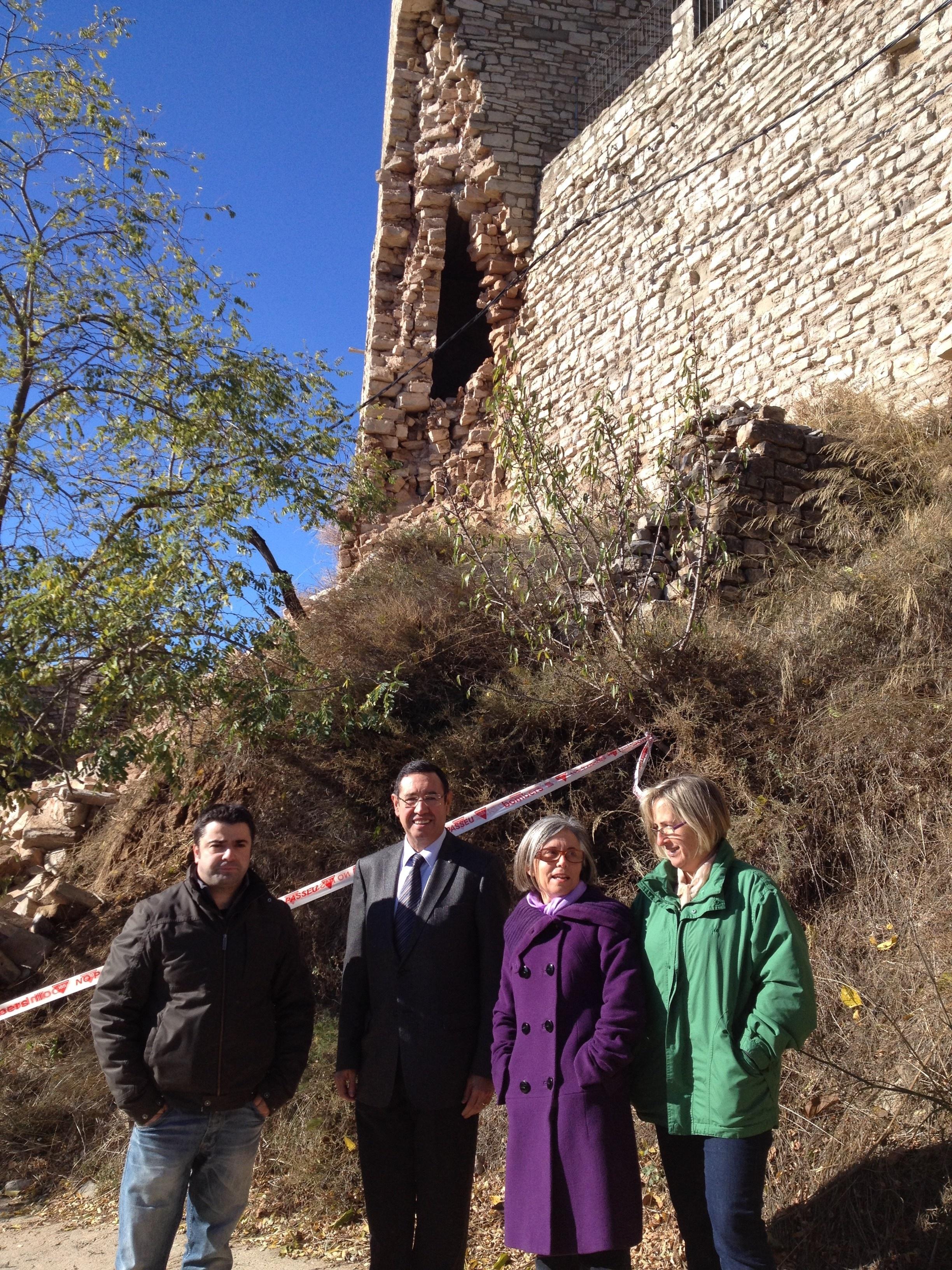 Estaràs (Lleida) repara el Castillo de Vergós tras los desprendimientos por las lluvias