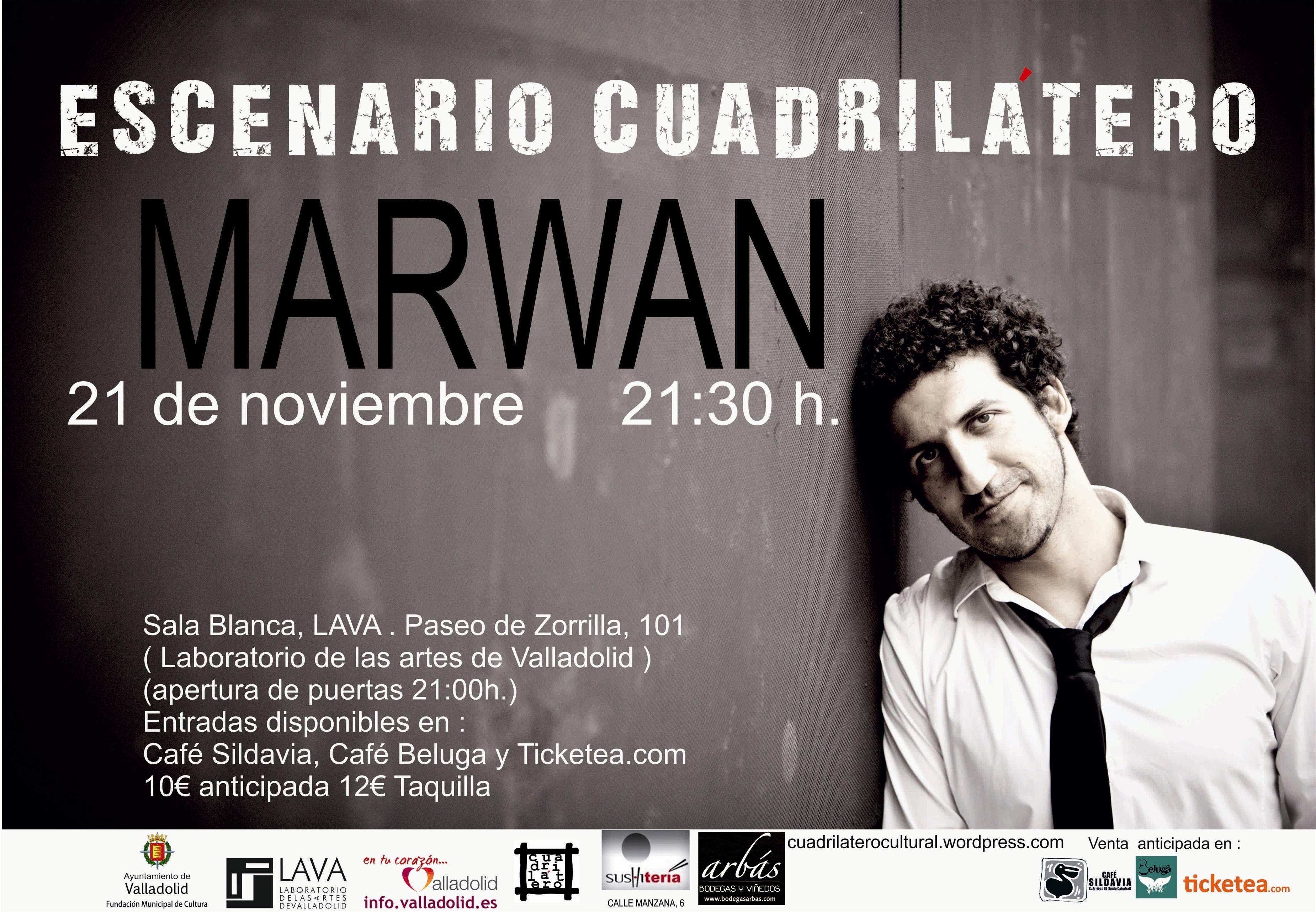 El cantautor Marwan presentará »Las cosas que no pude responder» este jueves en el LAVA de Valladolid