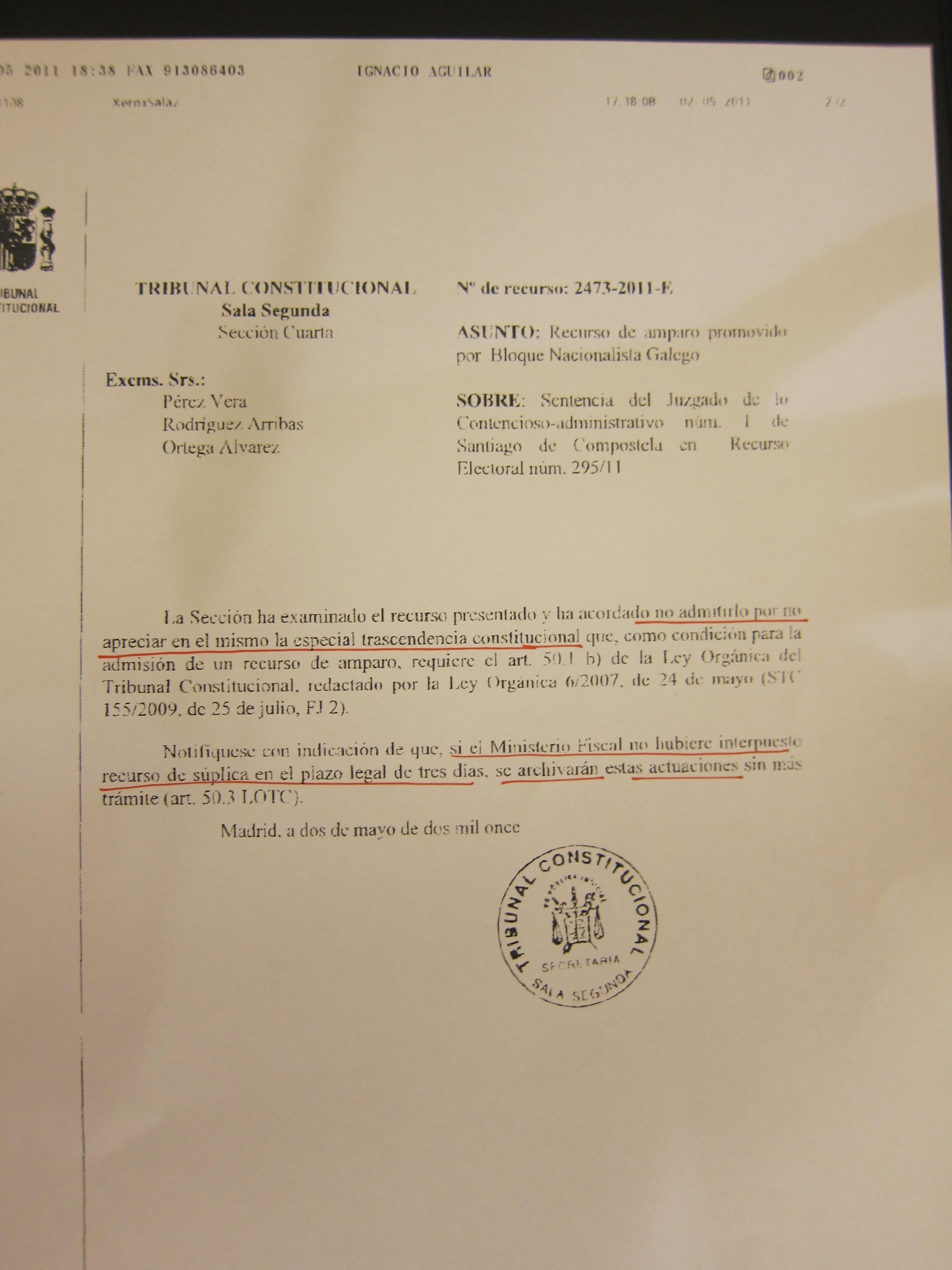 El TC sigue deliberando hoy sobre el caso de Fernández de Larrinoa, que le servirá para acordar su postura