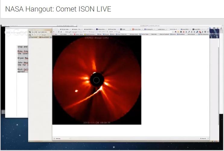 Así se vivió la llegada del cometa ISON a la superficie solar